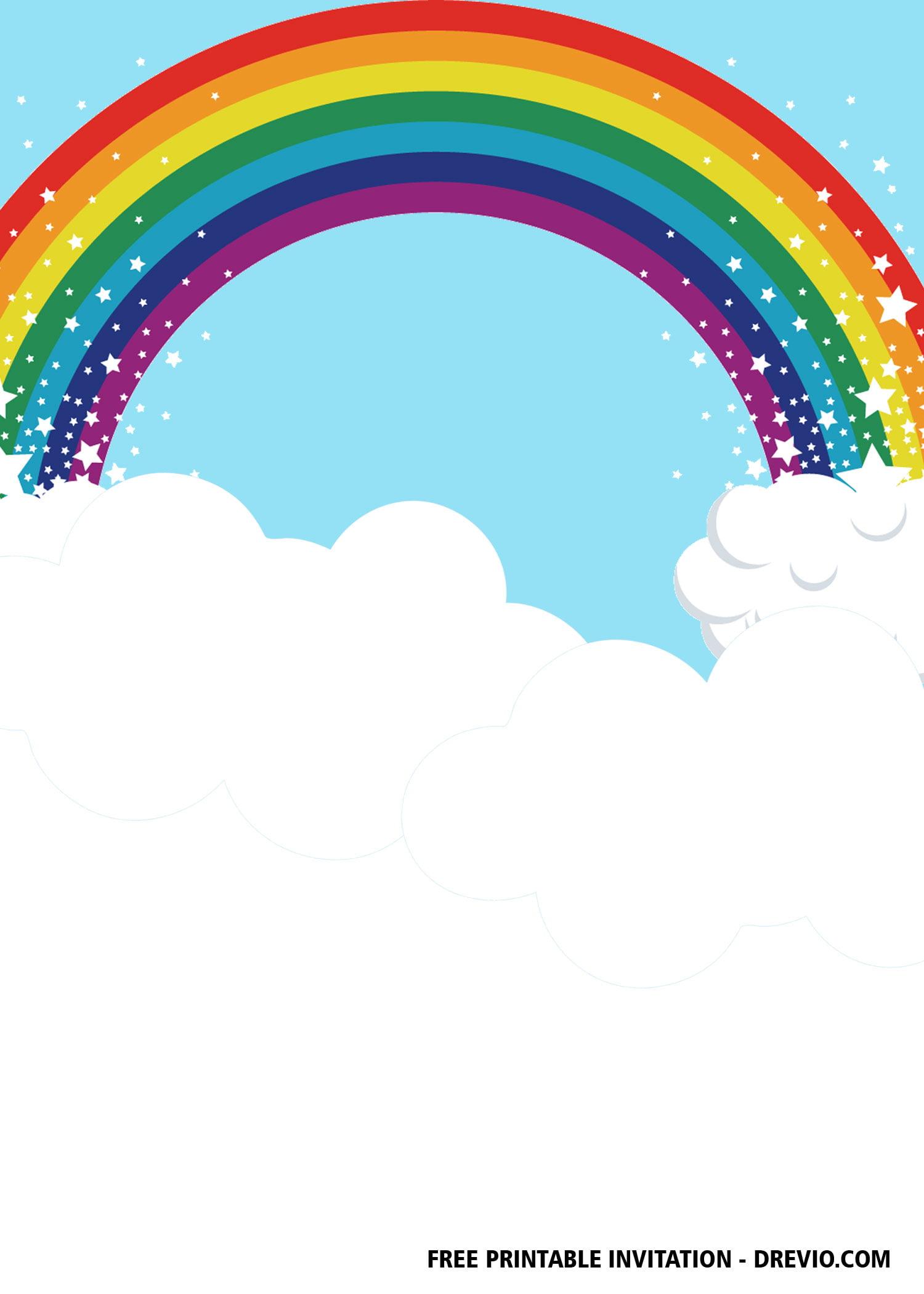 Free Rainbow Party Invitation Templates