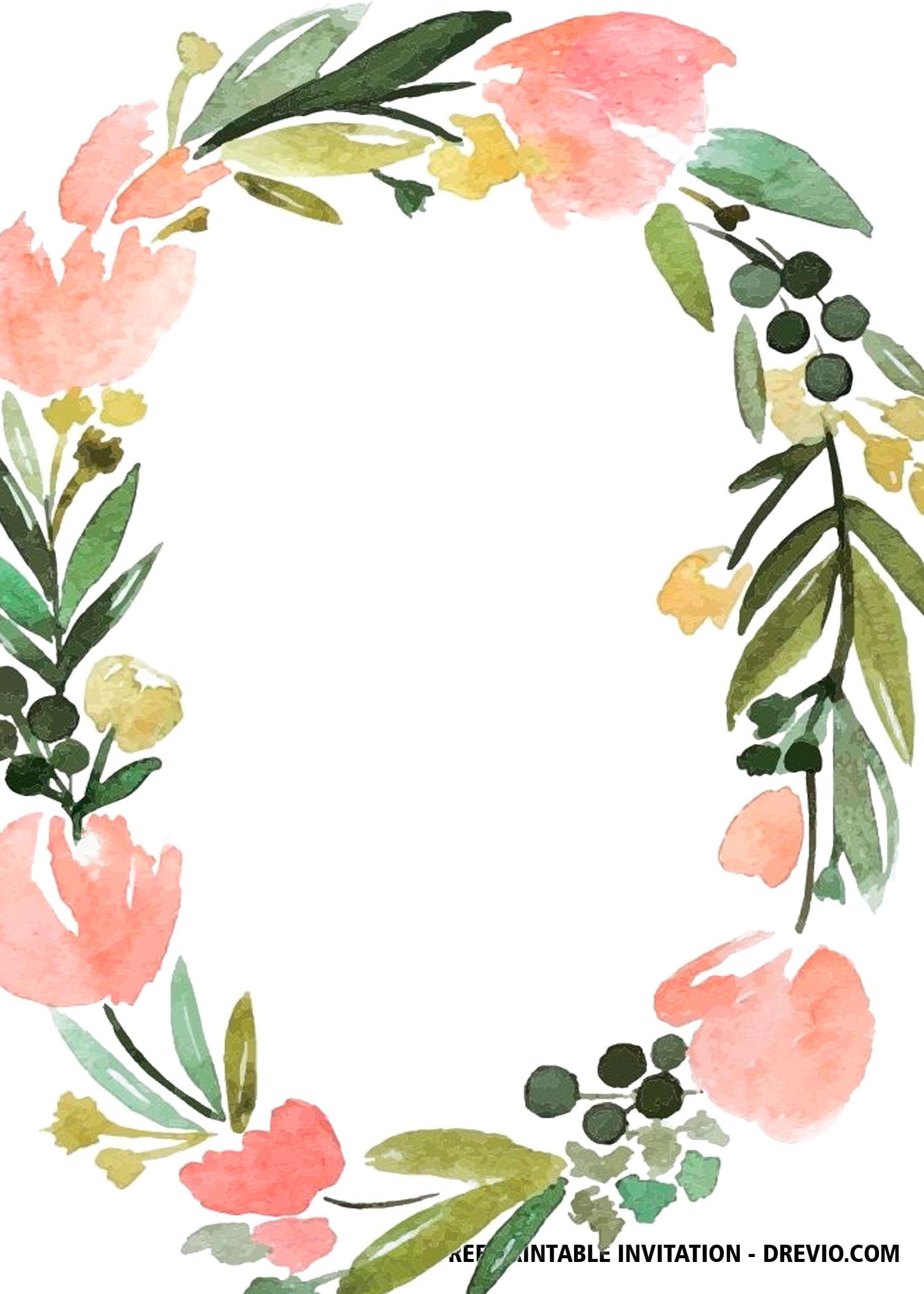 Free Floral Wedding Invitation Templates