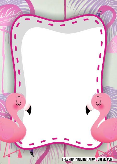 free flamingo birthday invitation