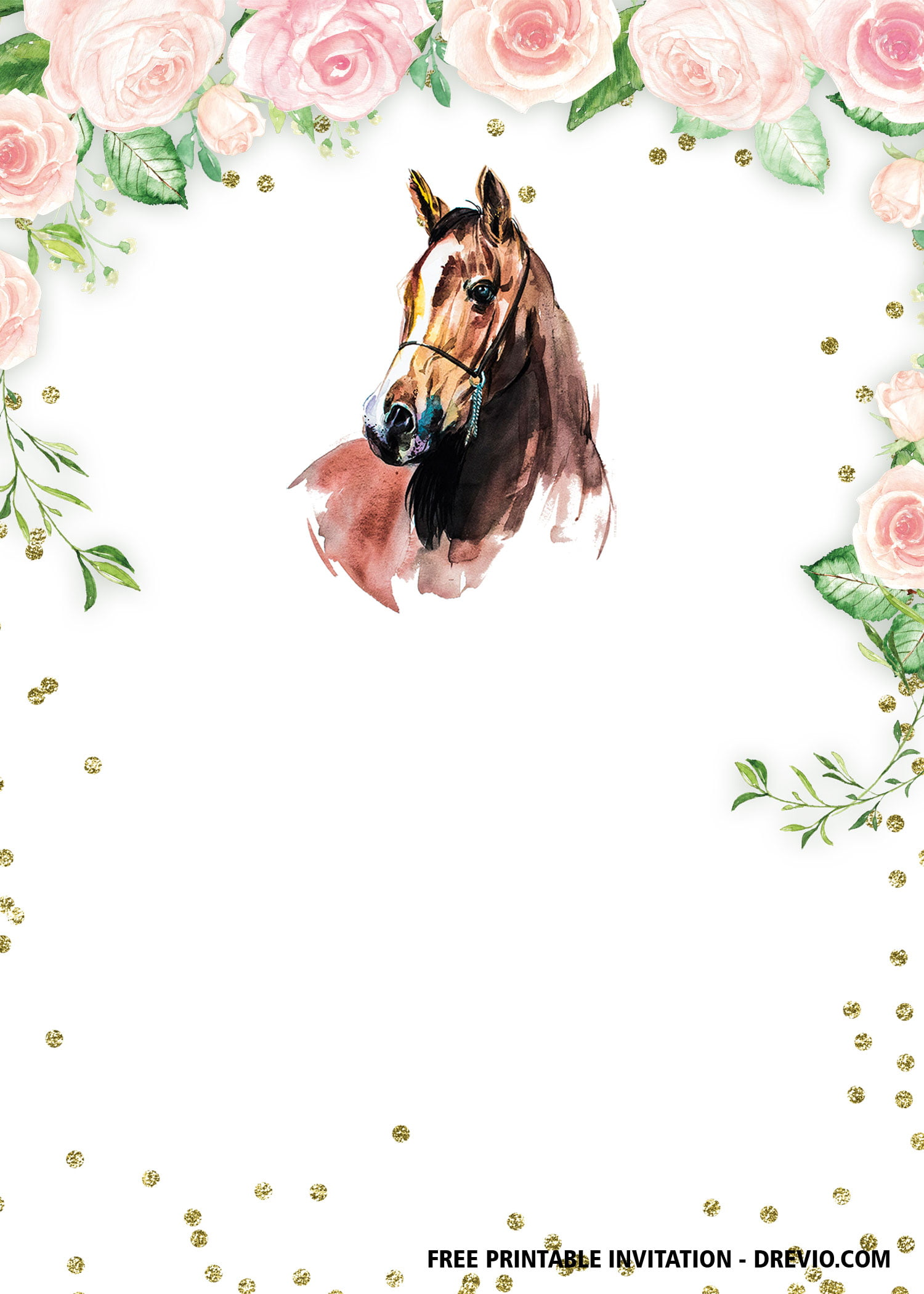 free printable horse birthday