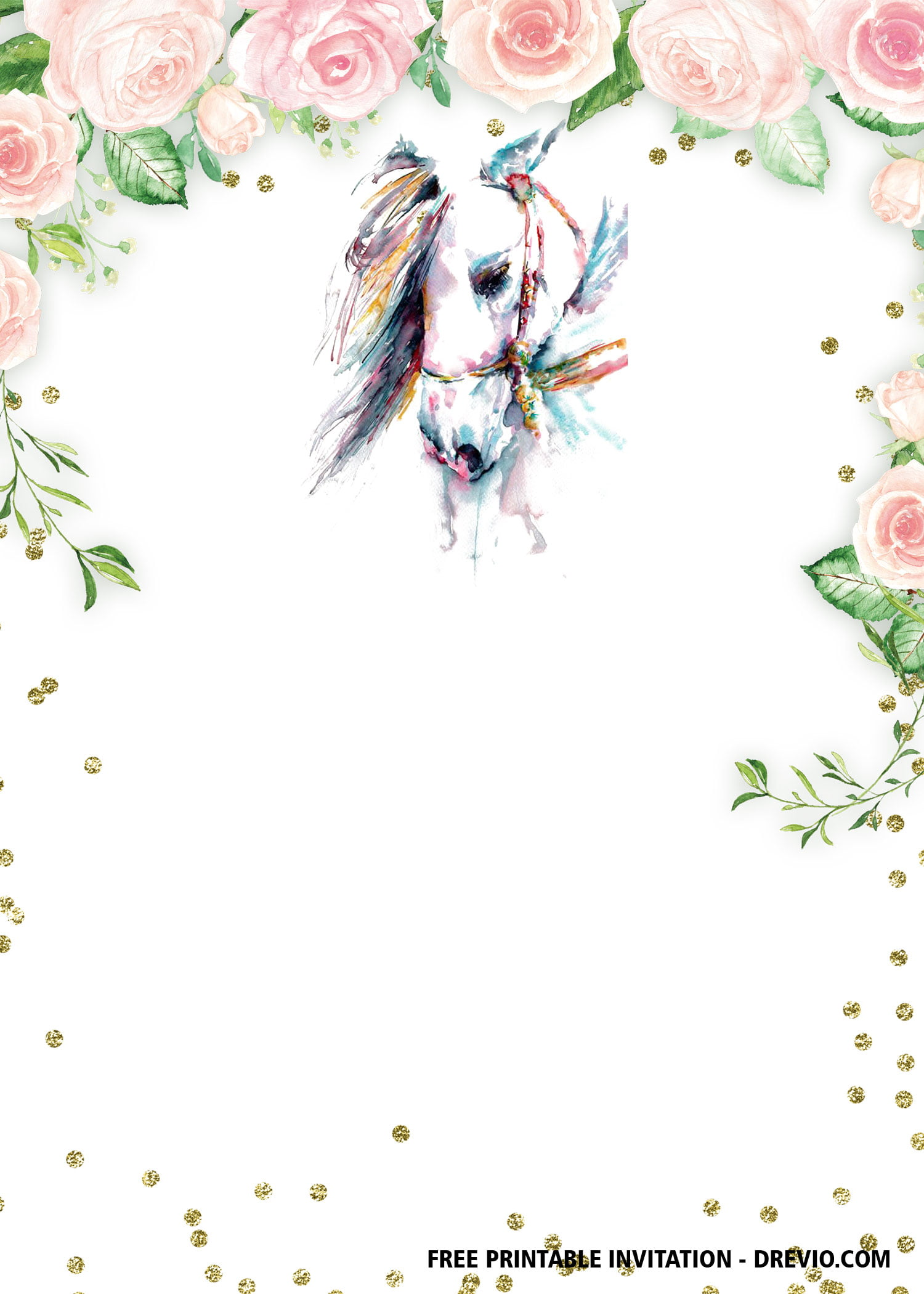 free printable horse birthday
