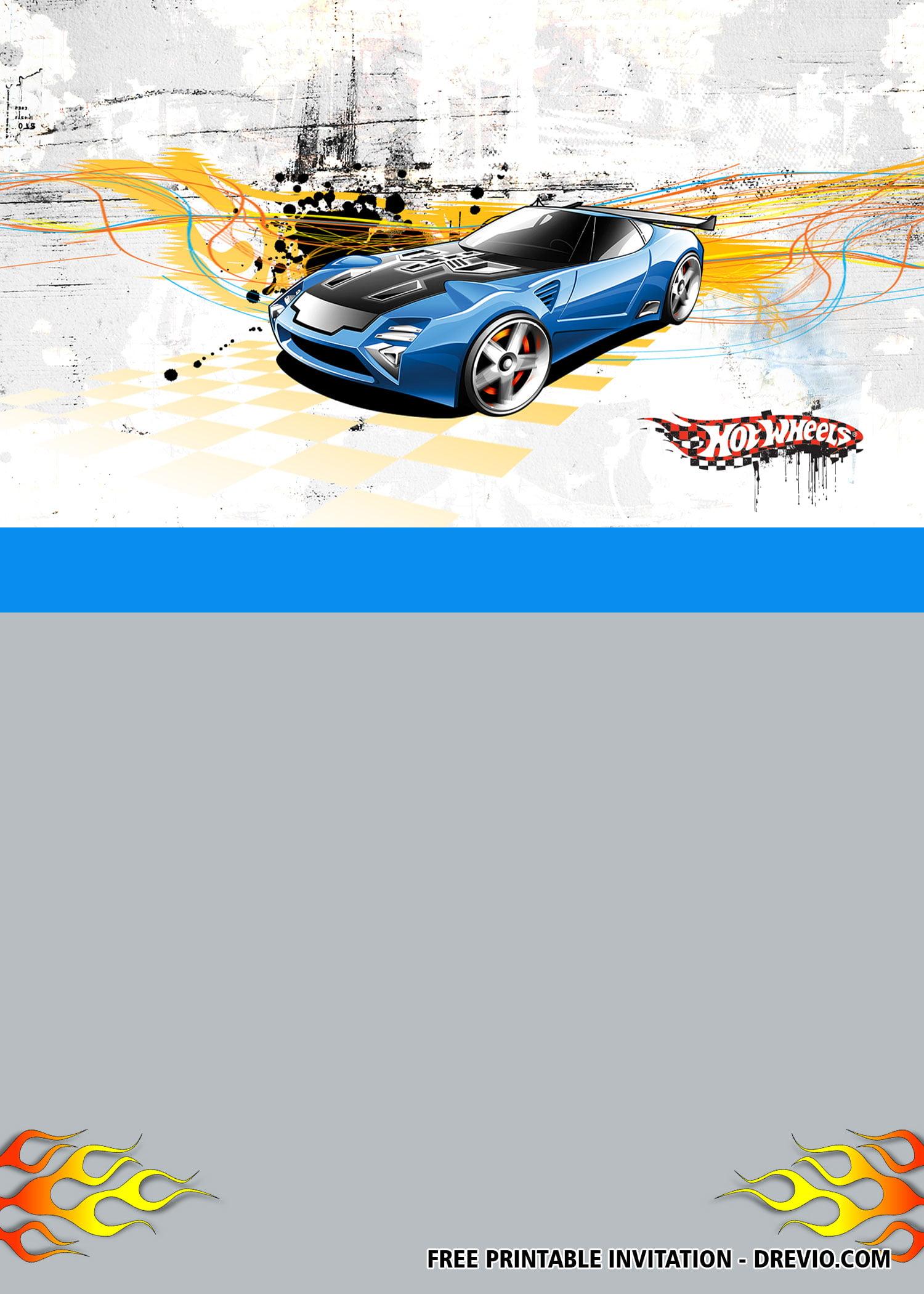 free hot wheels invitation templates