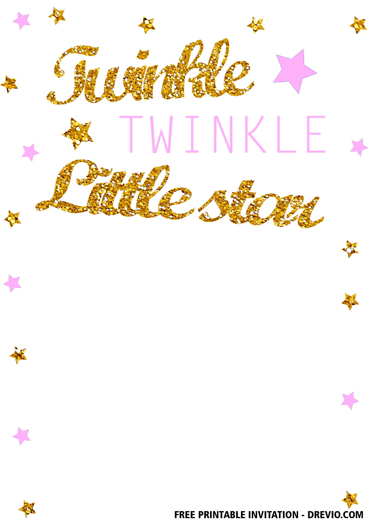 free twinkle twinkle little star