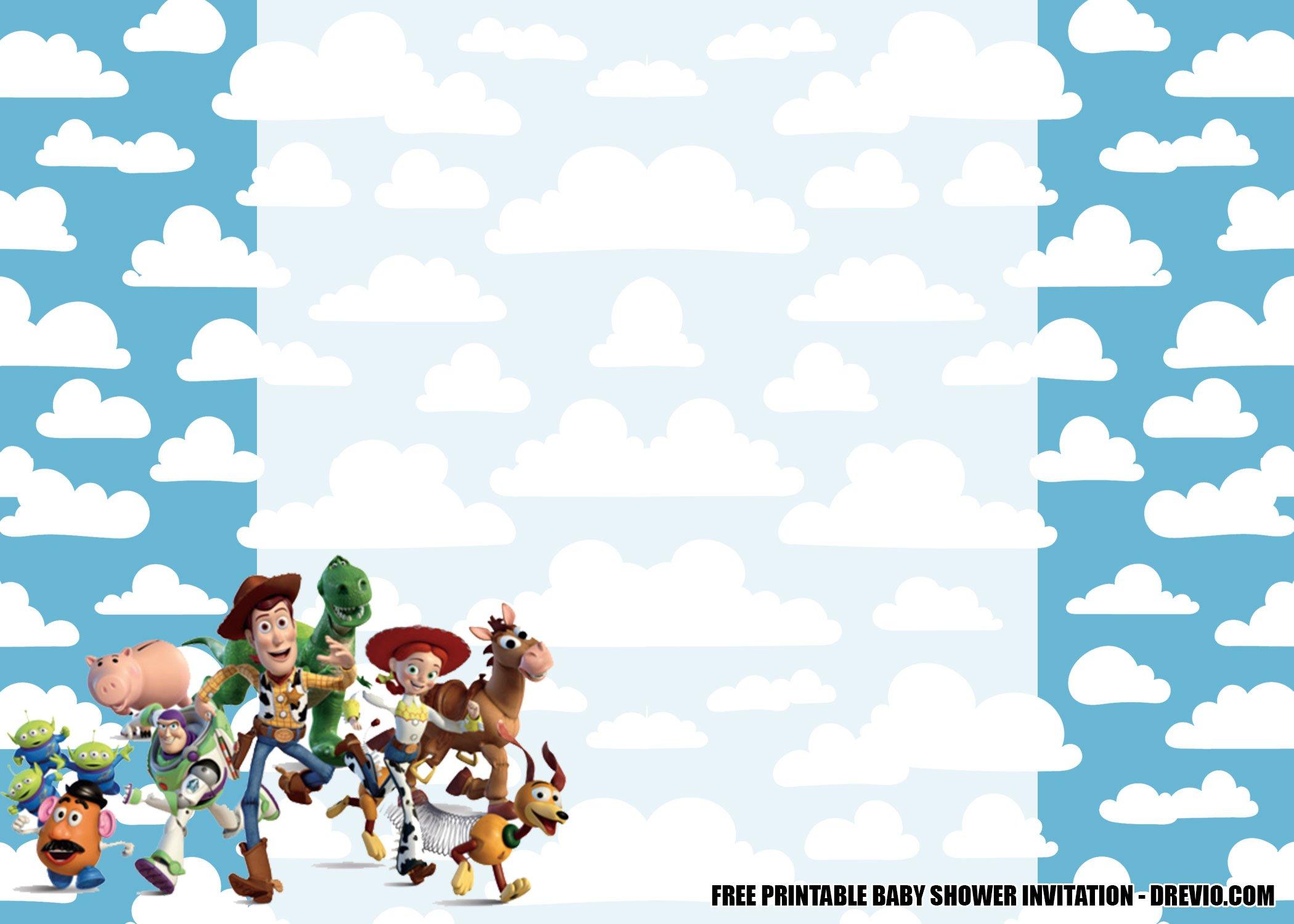 free toy story baby shower invitation