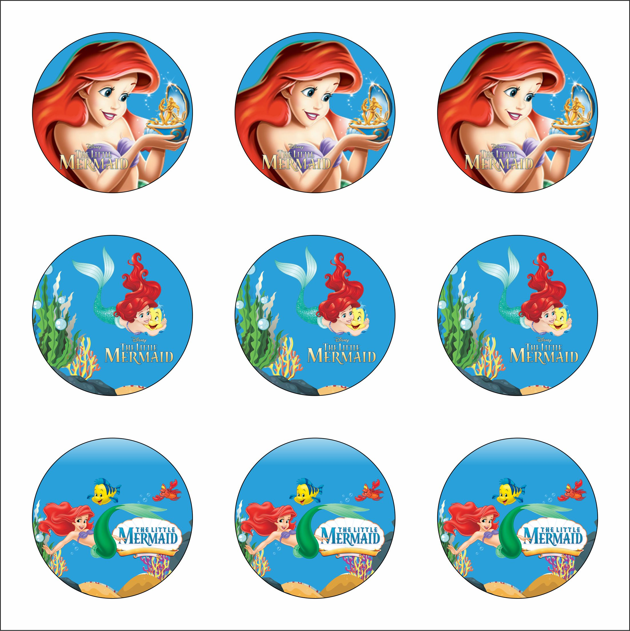 Free Printable Ariel The Little Mermaid Party Supplies