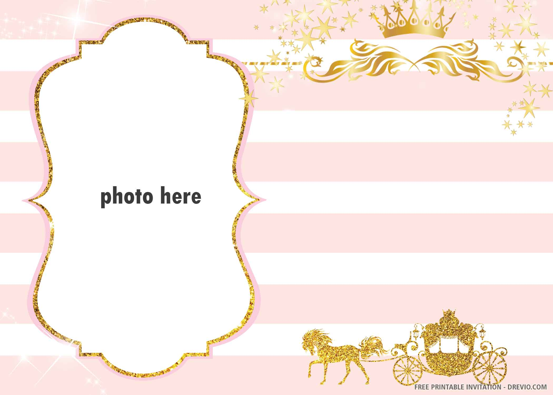 free printable golden carriage