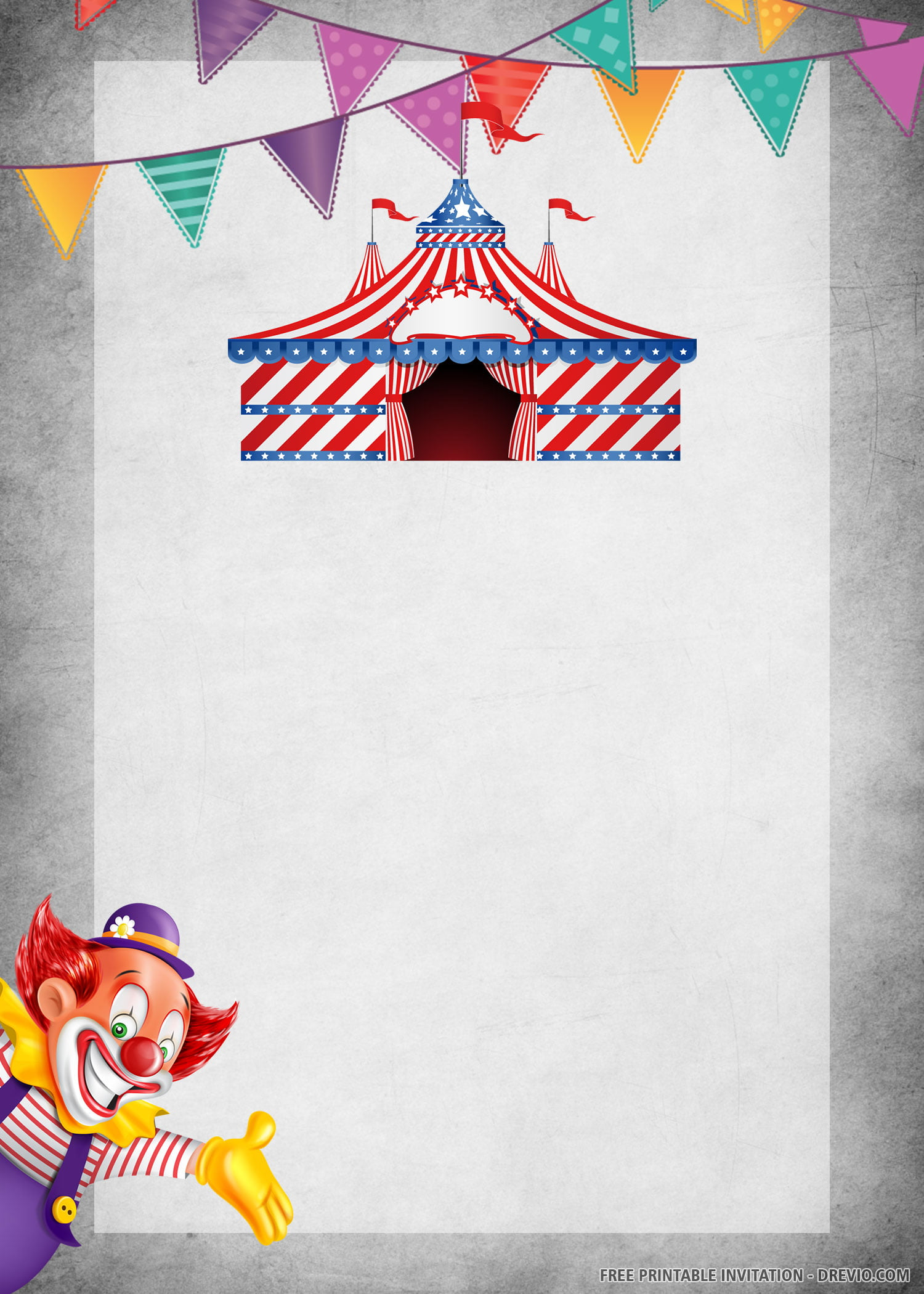 Free Printable Carnival Themed Party Invitation Templates