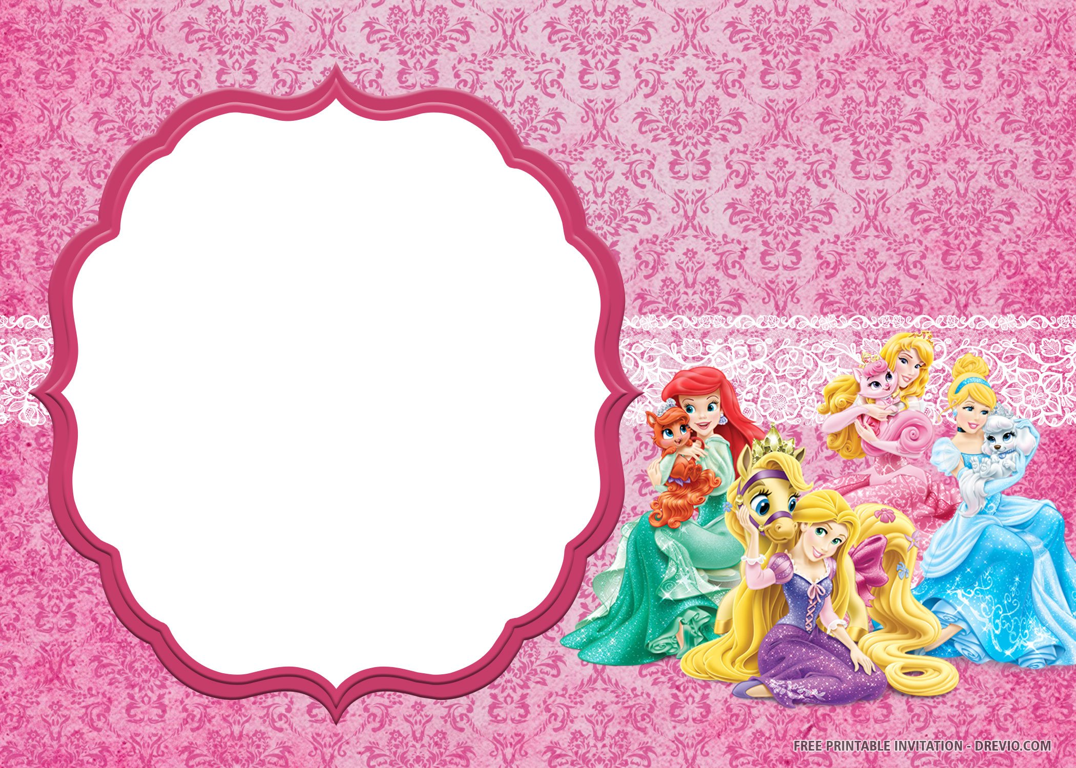 Free Printable Disney Princess Invitation Templates
