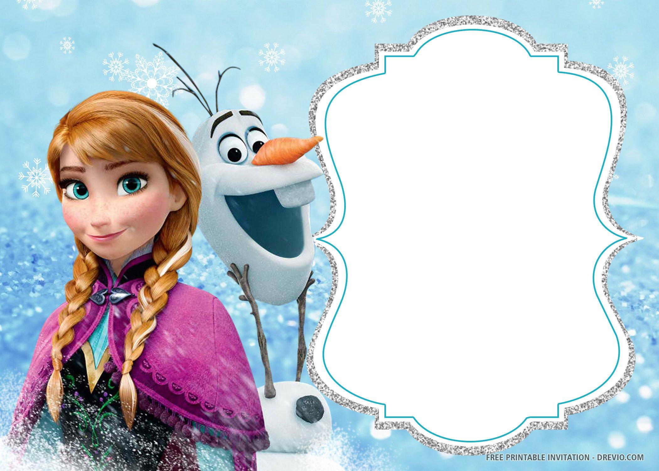 Free Printable Frozen Birthday Invitation Templates