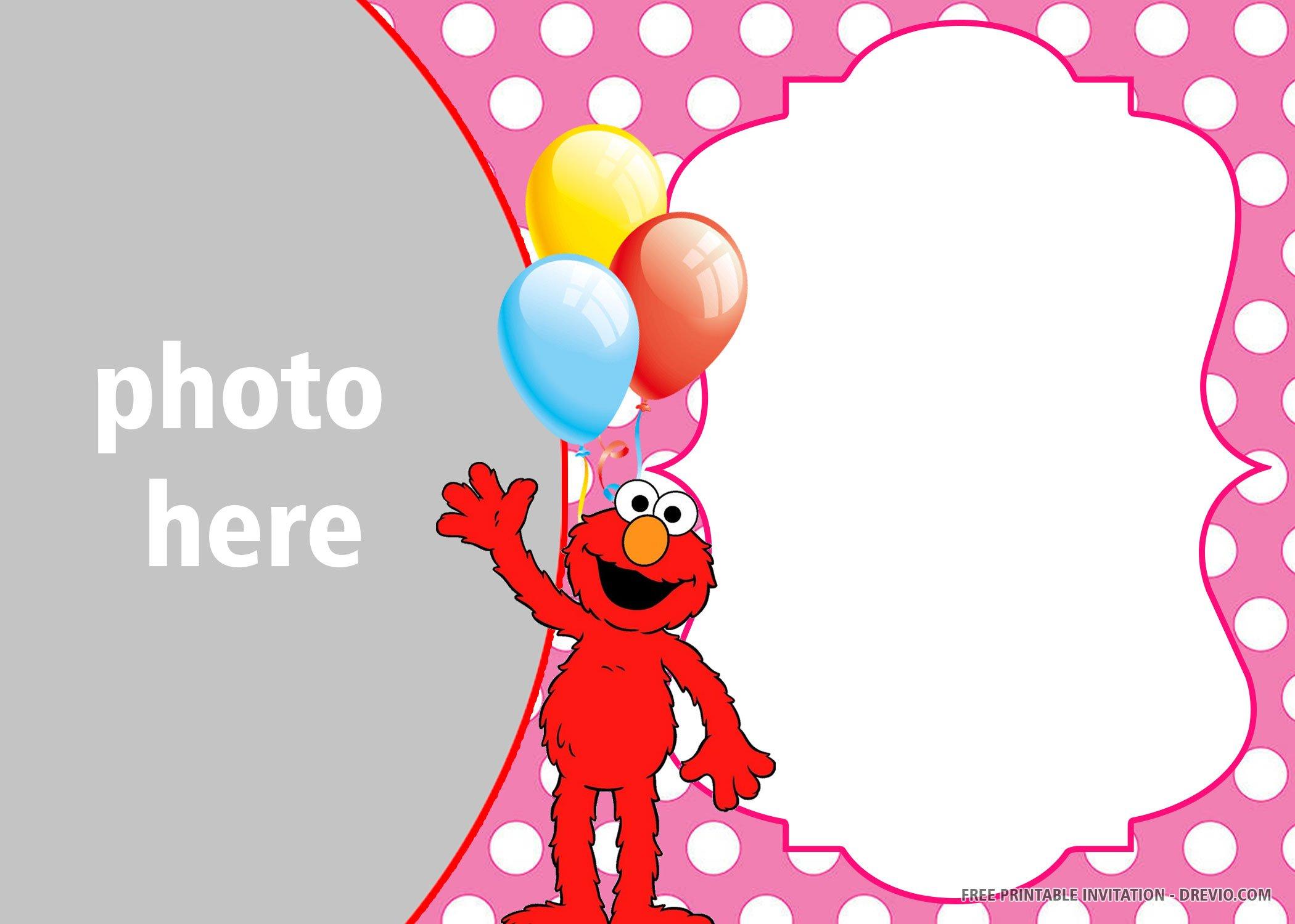 free printable elmo birthday invitation
