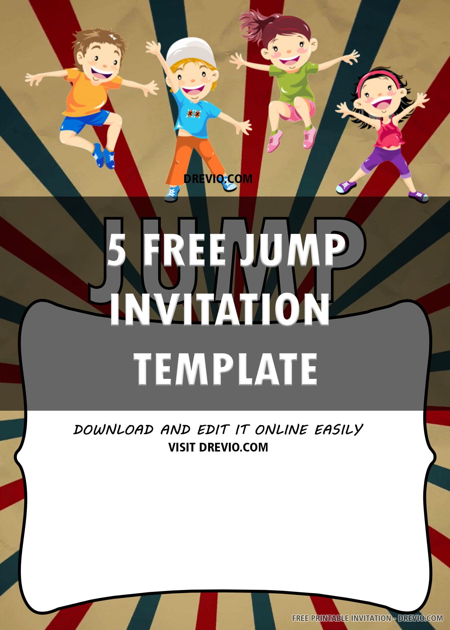 jump party invite trampoline 6