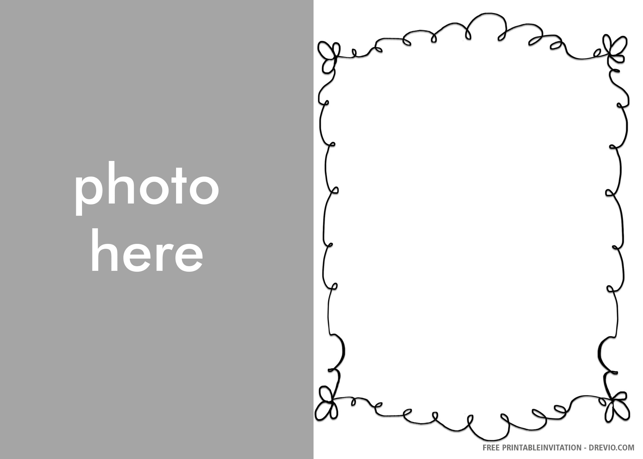 Free Printable Baptism Boy Photo Invitation Templates