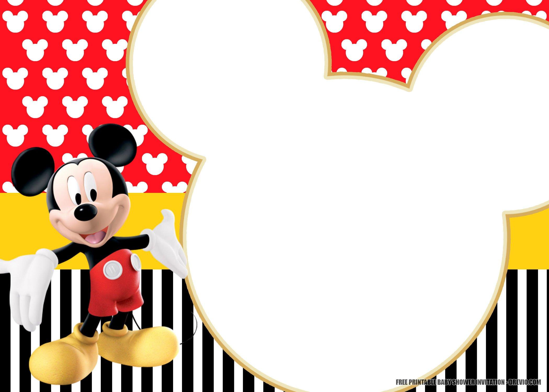 Free Printable Mickey Mouse Invitation Templates