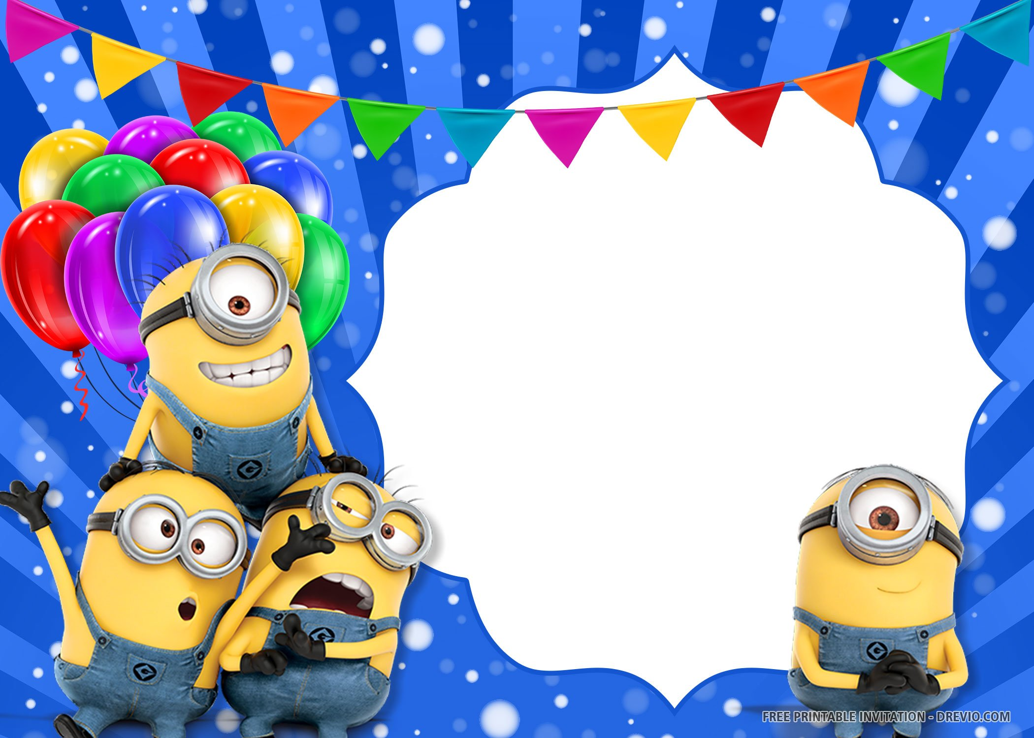 Free Printable Minions Invitation Templates