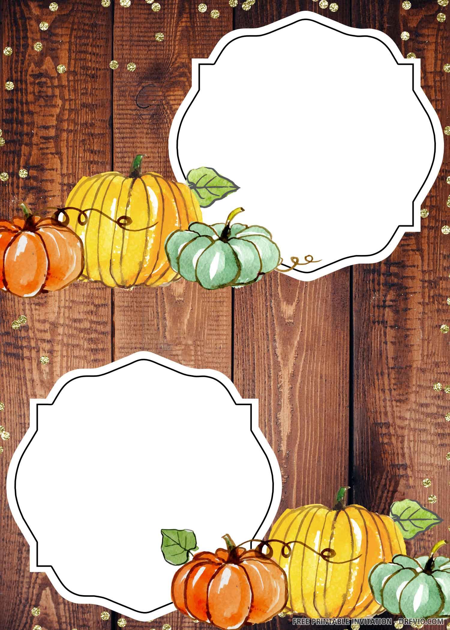 Free Printable Pumpkin Fall Harvest Birthday