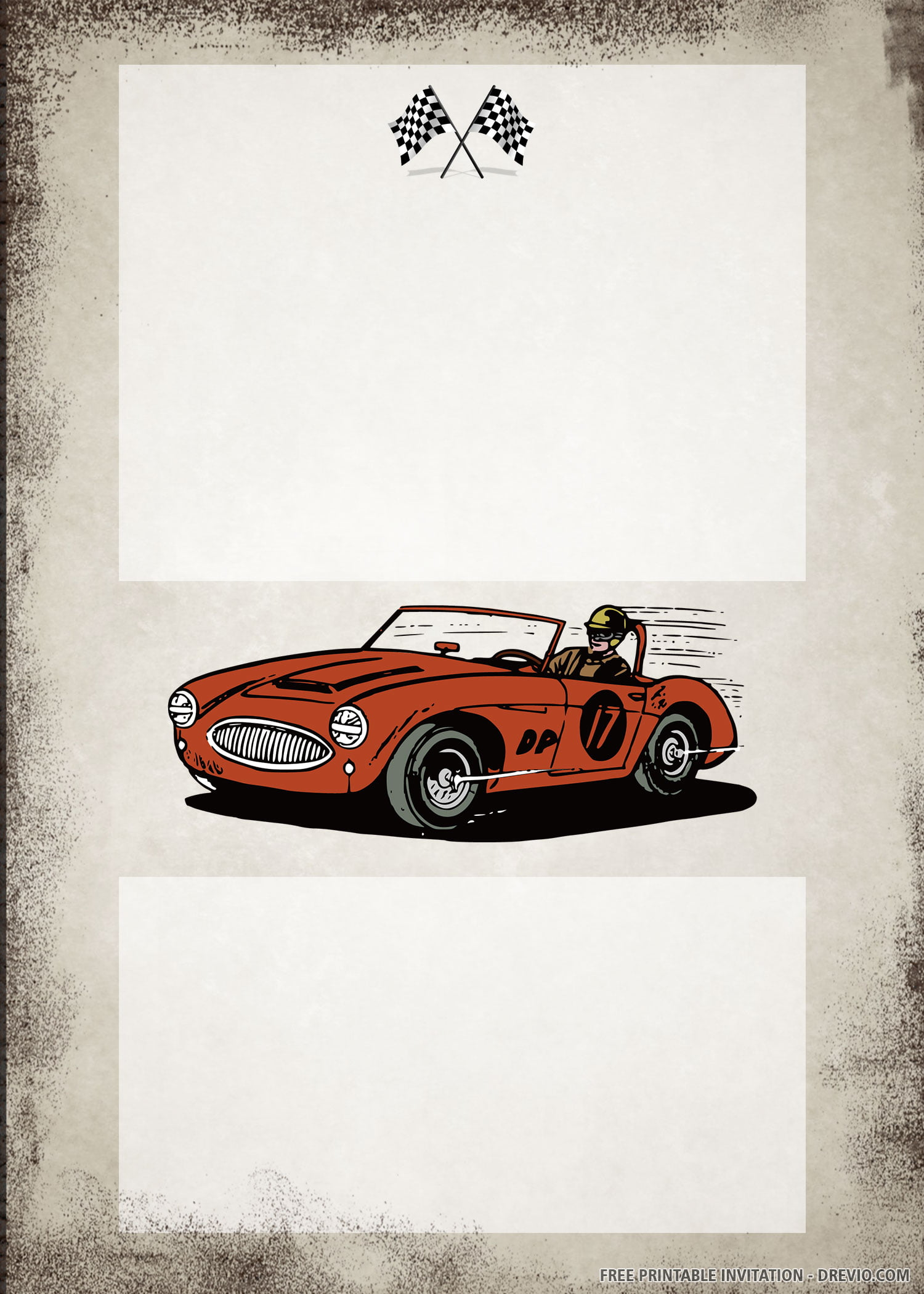 free printable vintage car birthday