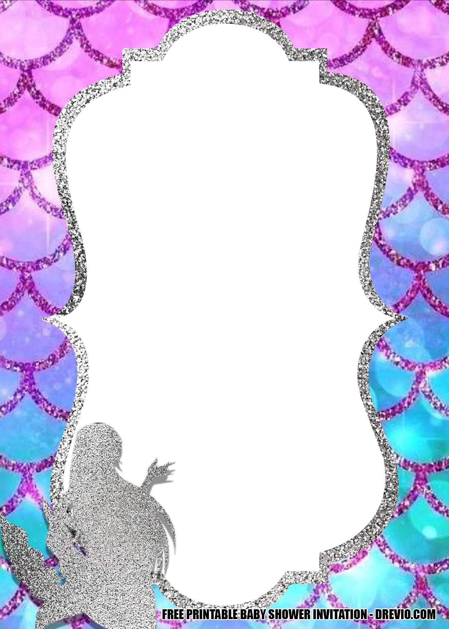 Free Printable Template Set A Little Mermaid
