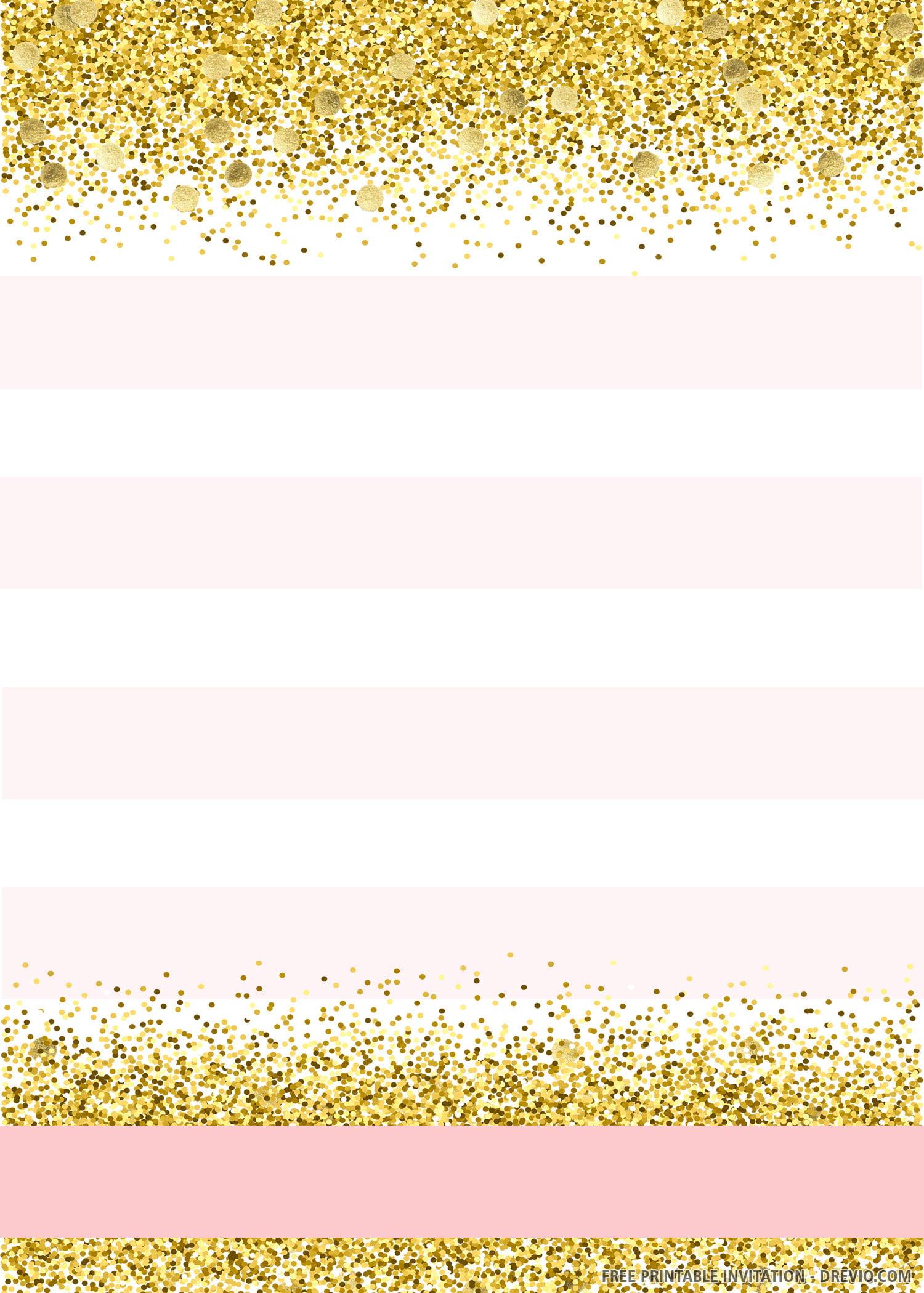 Free Printable Sparkle And Shine Birthday Invitation