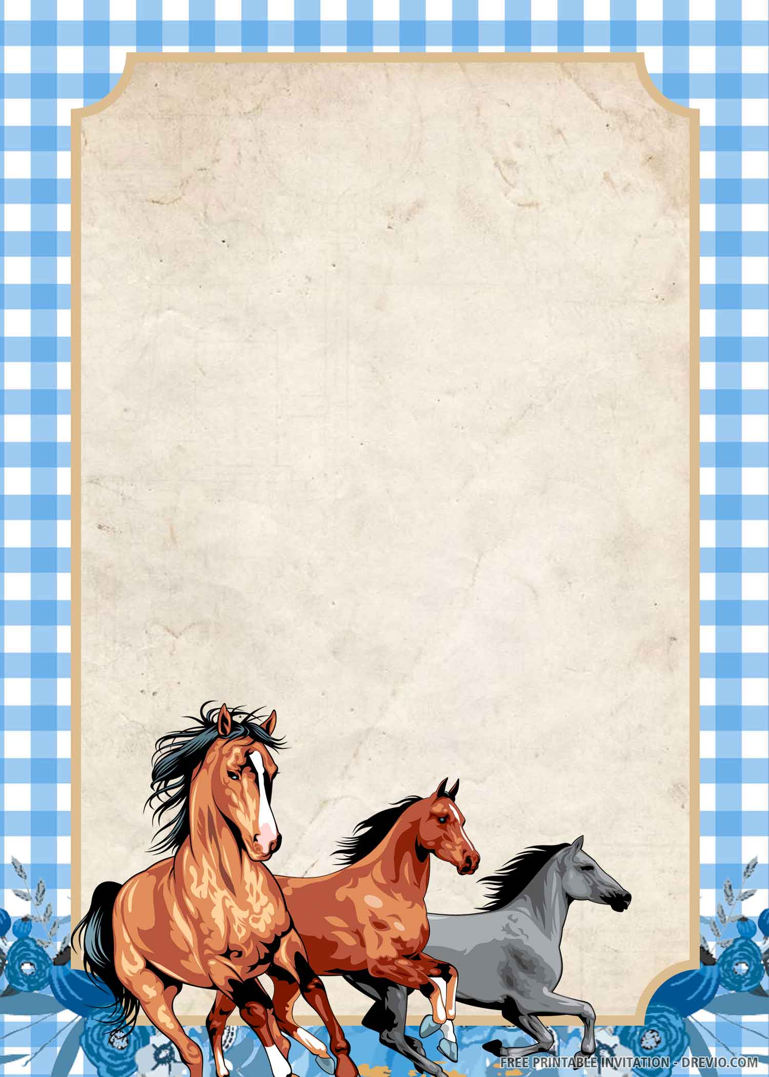 horse riding birthday invitation