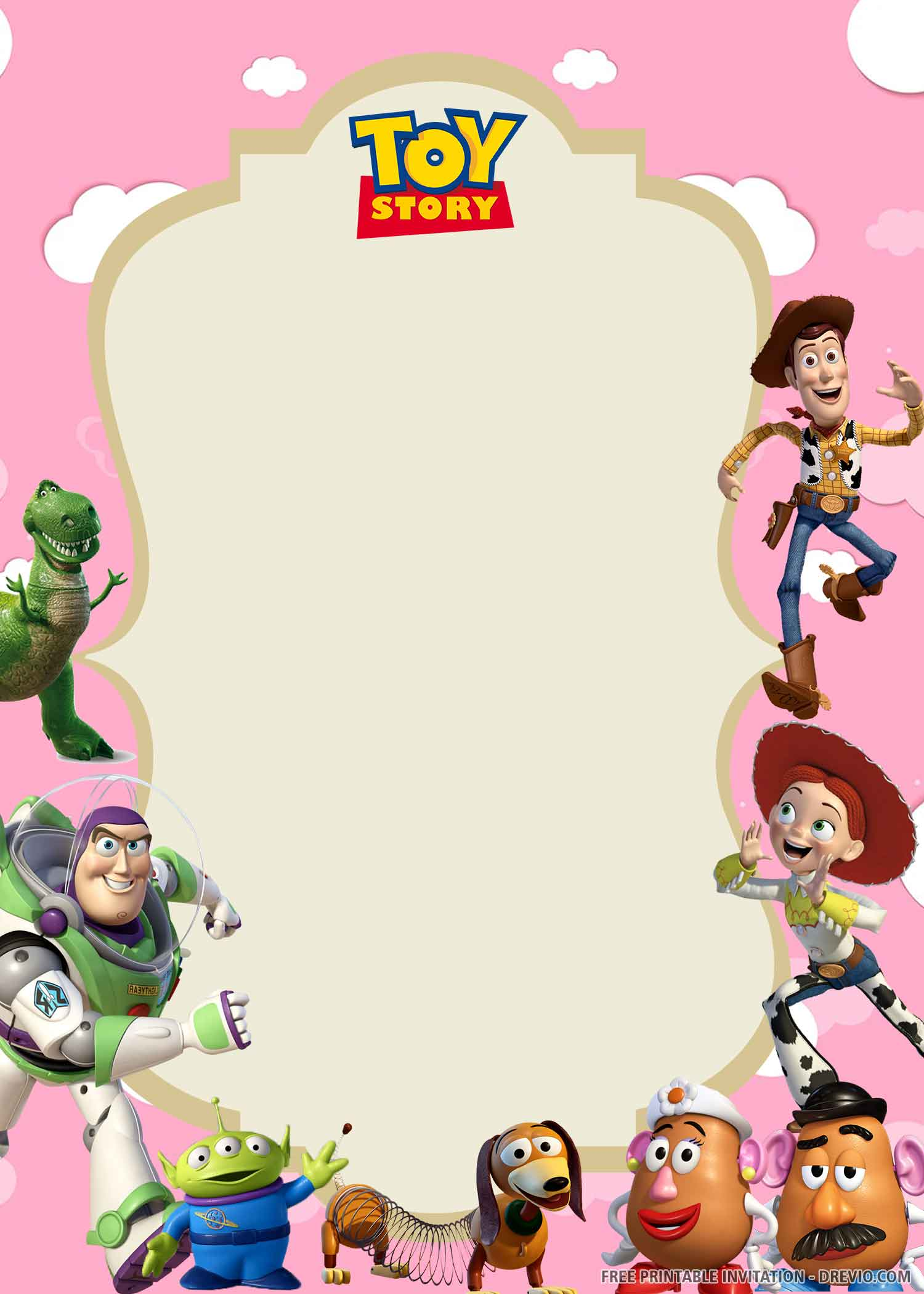Free Printable Toy Story Birthday Invitation Template