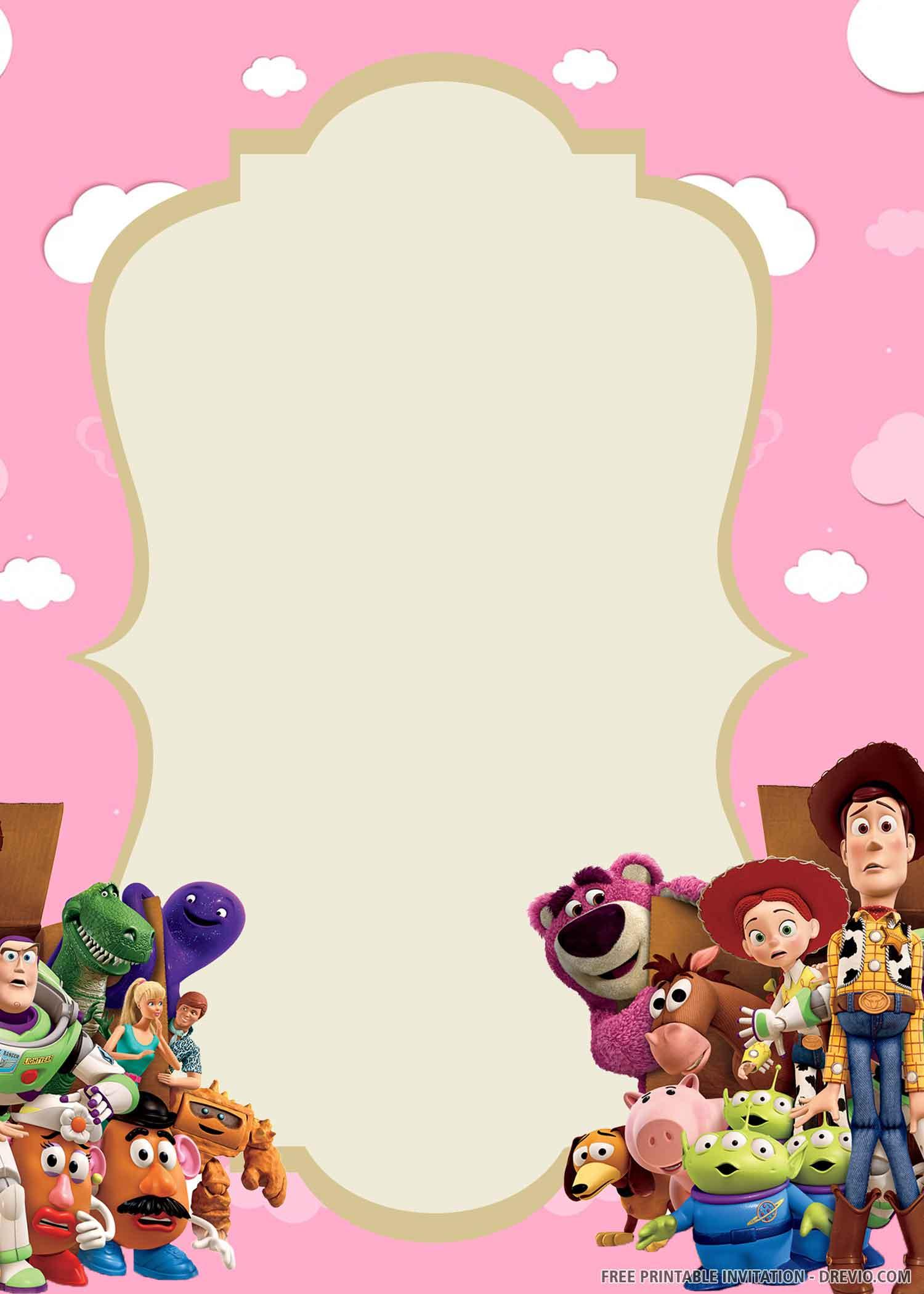 Free Printable Toy Story Birthday Invitation Template