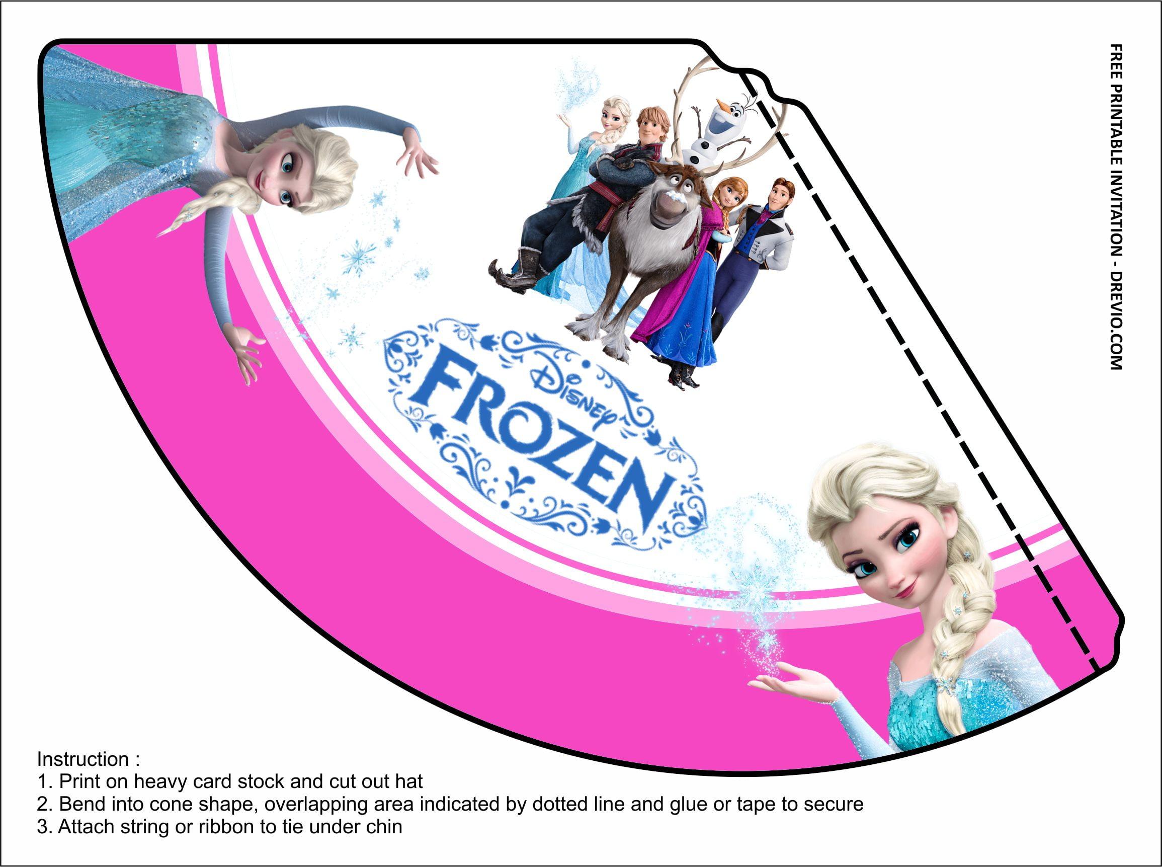 frozen 2 birthday party kits templates