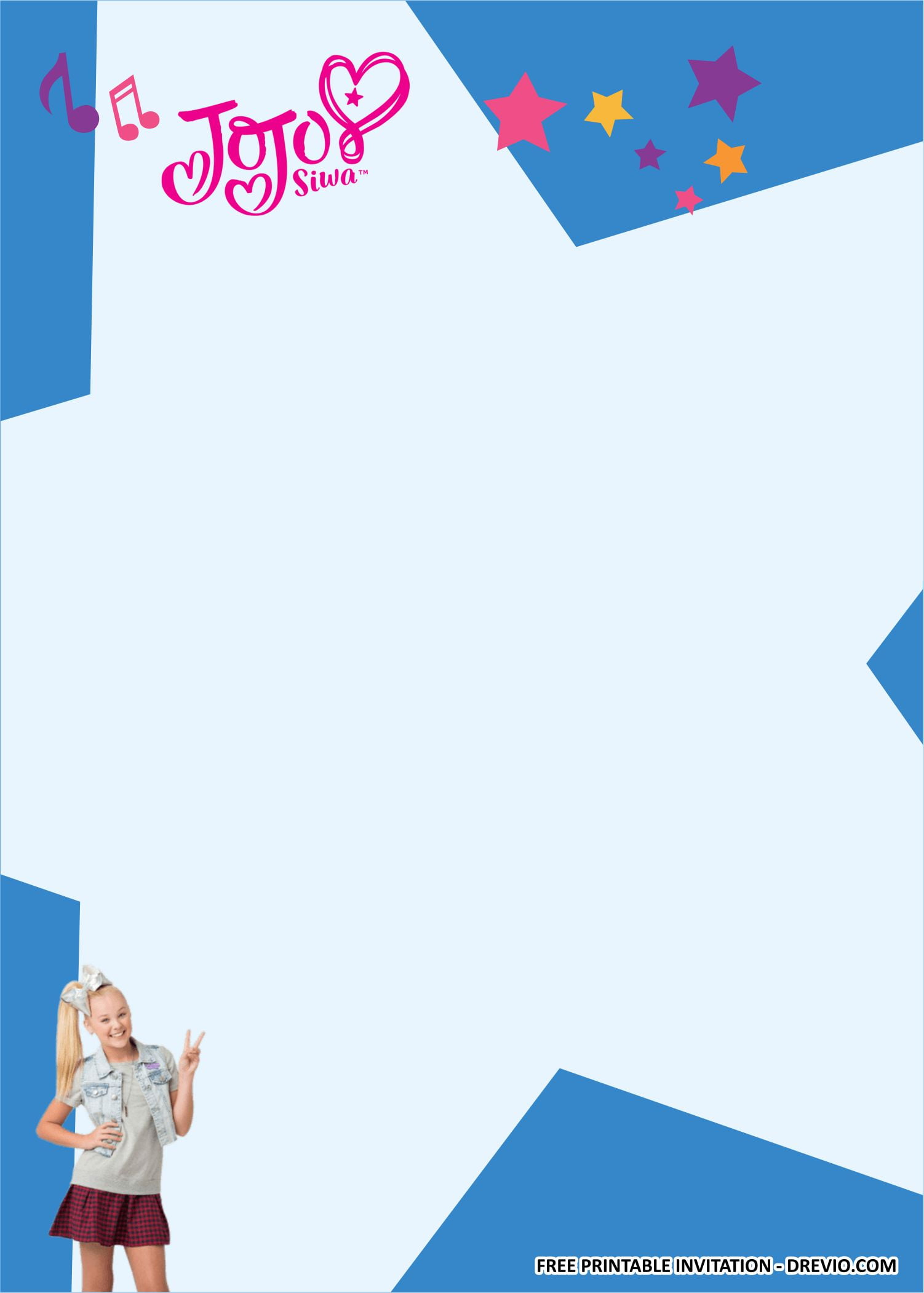 jojo siwa birthday party kits templates