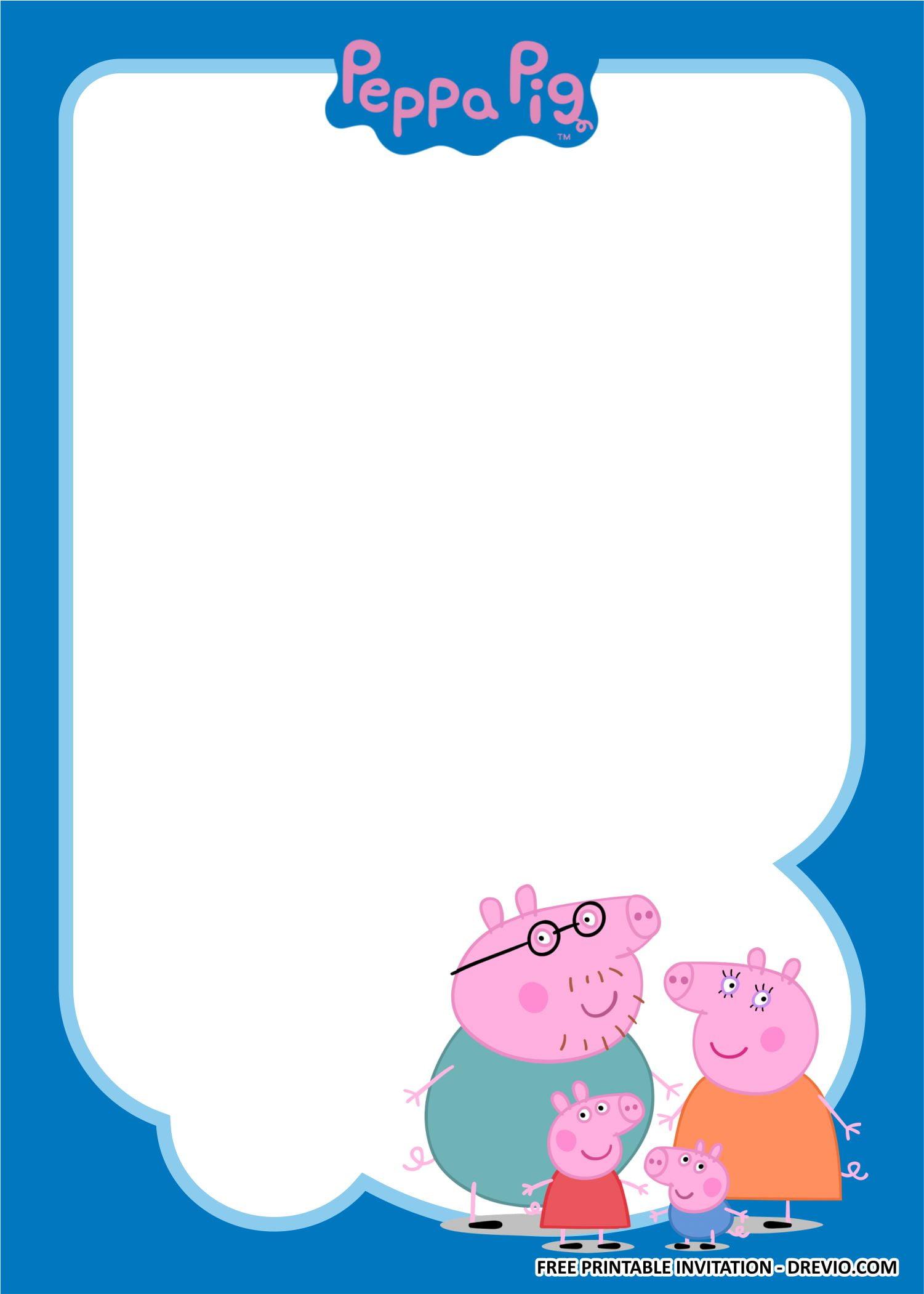 peppa pig birthday party kits templates