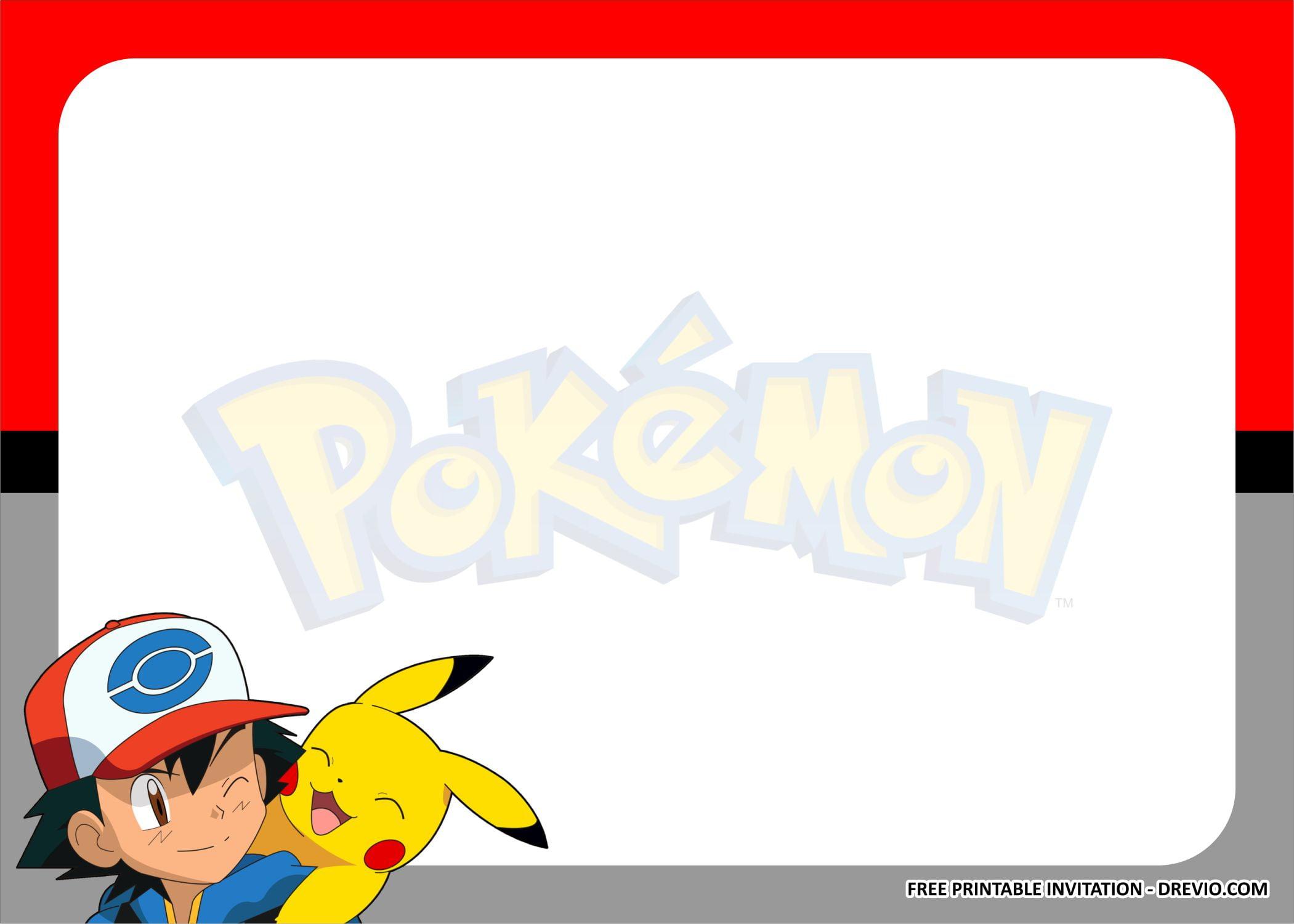 pokemon invitation templates 1