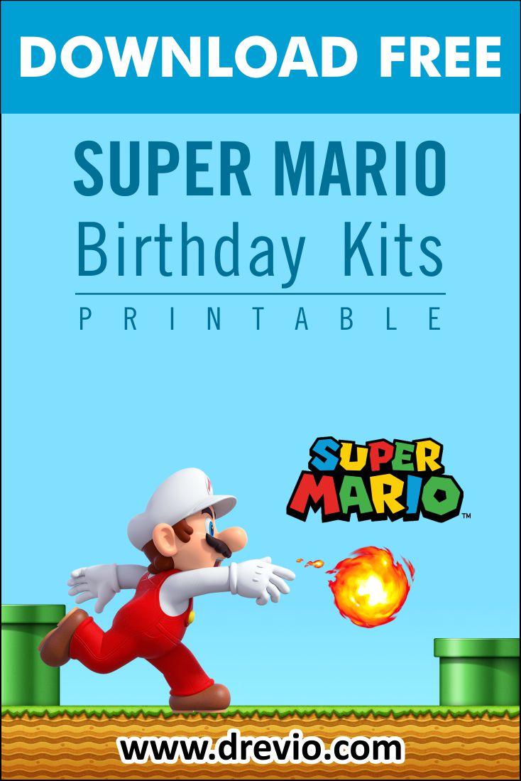 super mario themed birthday party kits
