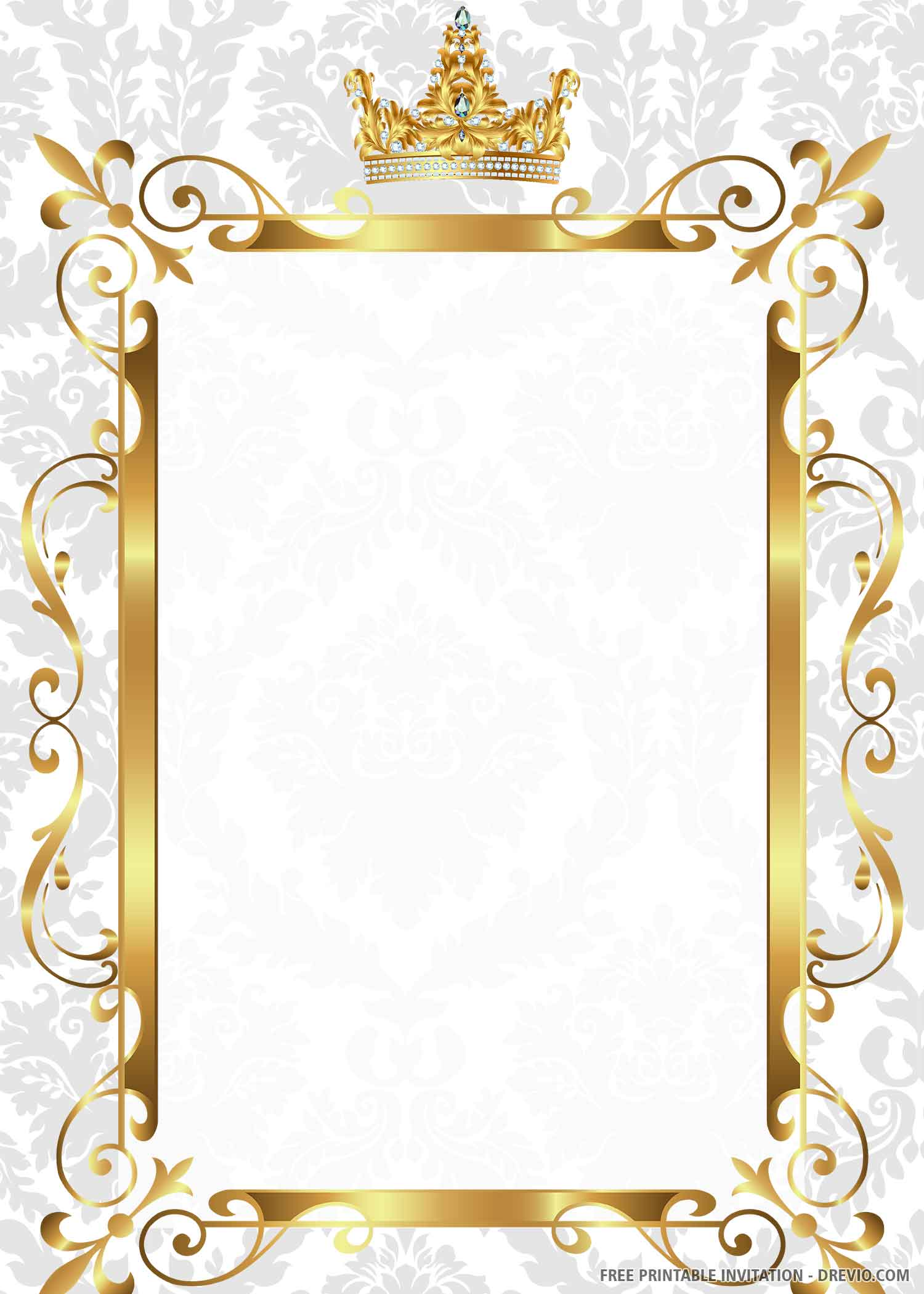 gold royal wedding invitation templates