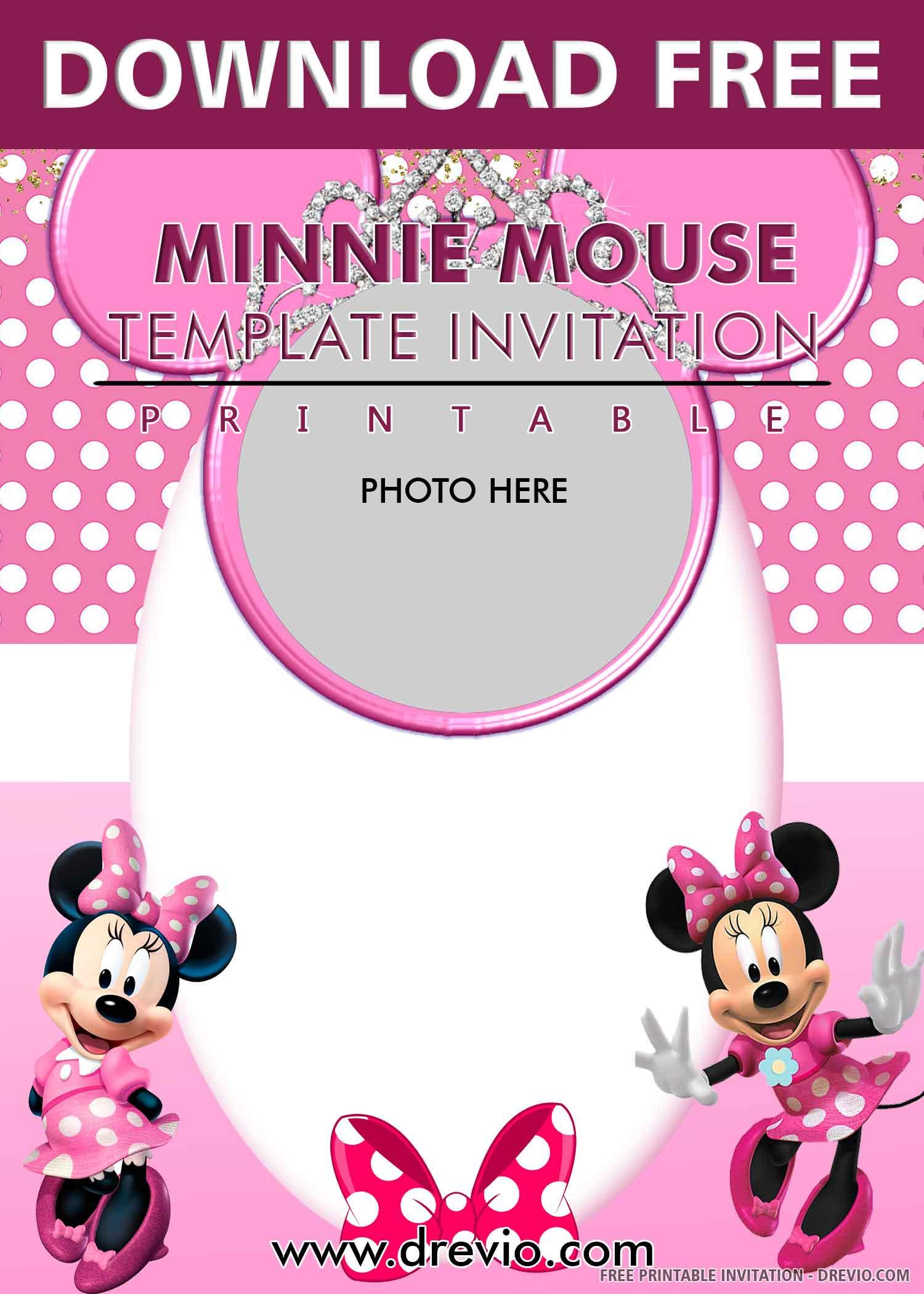Free Printable Minnie Mouse S Pink Bandana Birthday