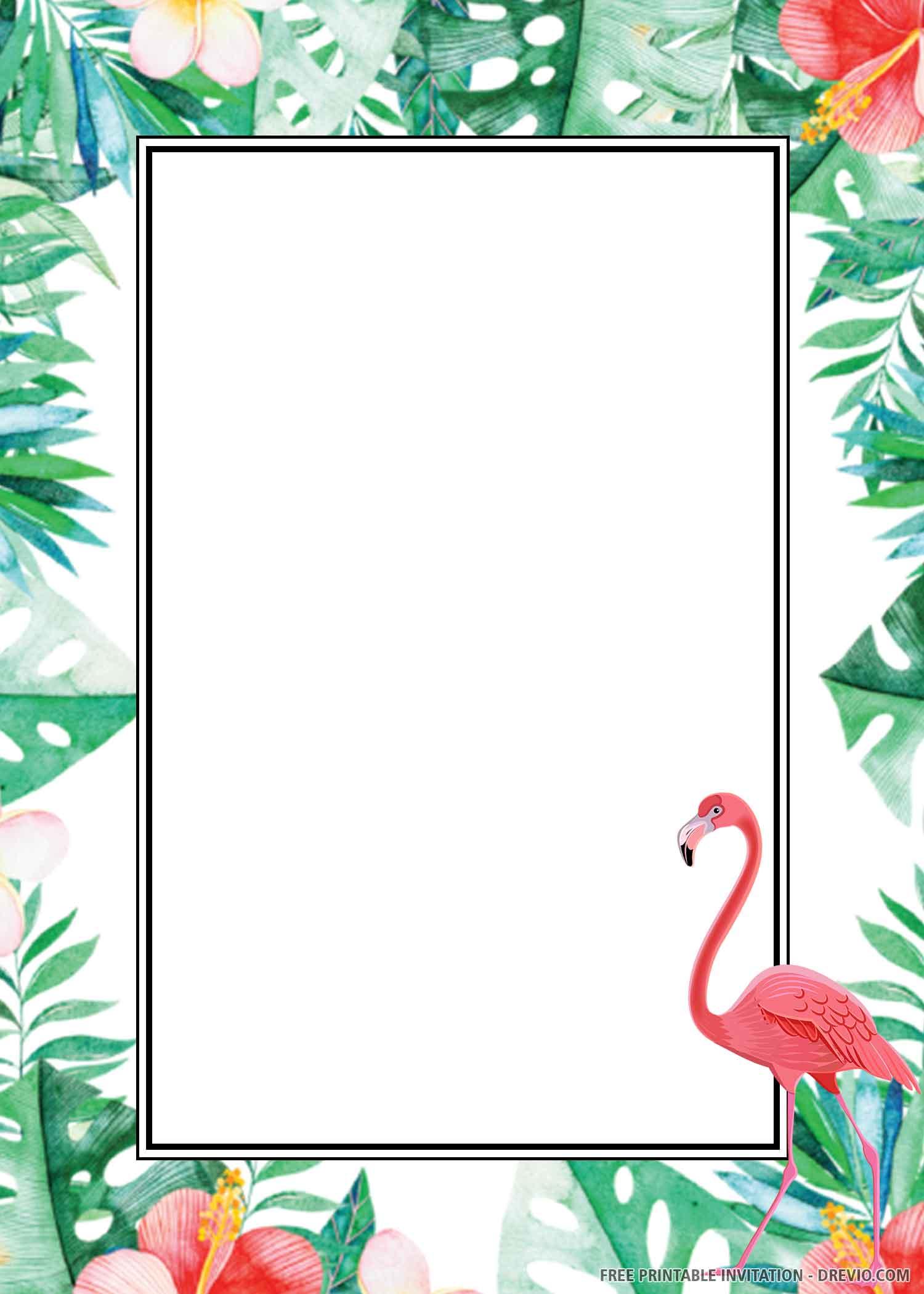 watercolor tropical flamingo download