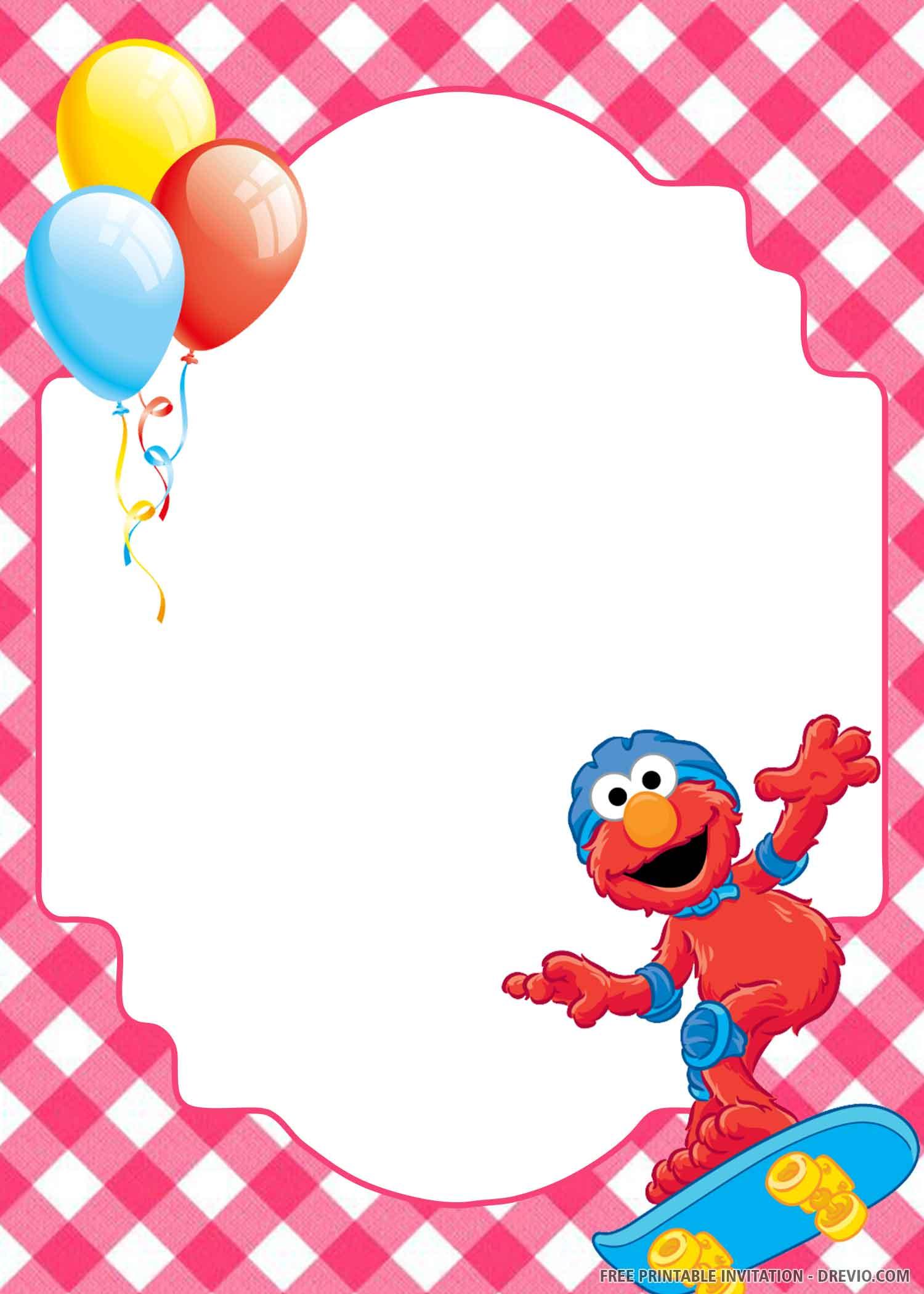 elmo celebrate invitation template