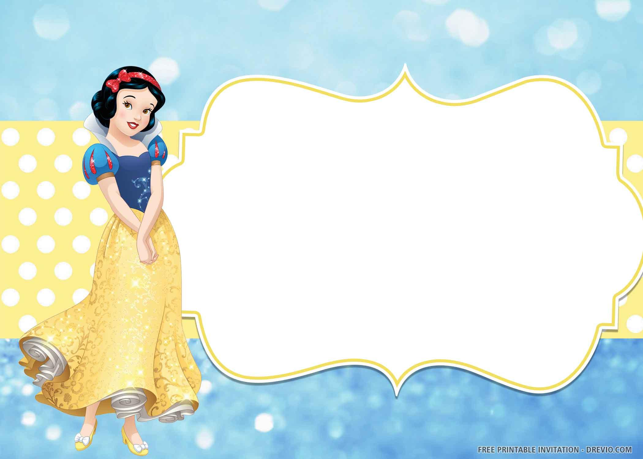 Free Printable Lovely Poses Of Snow White Birthday