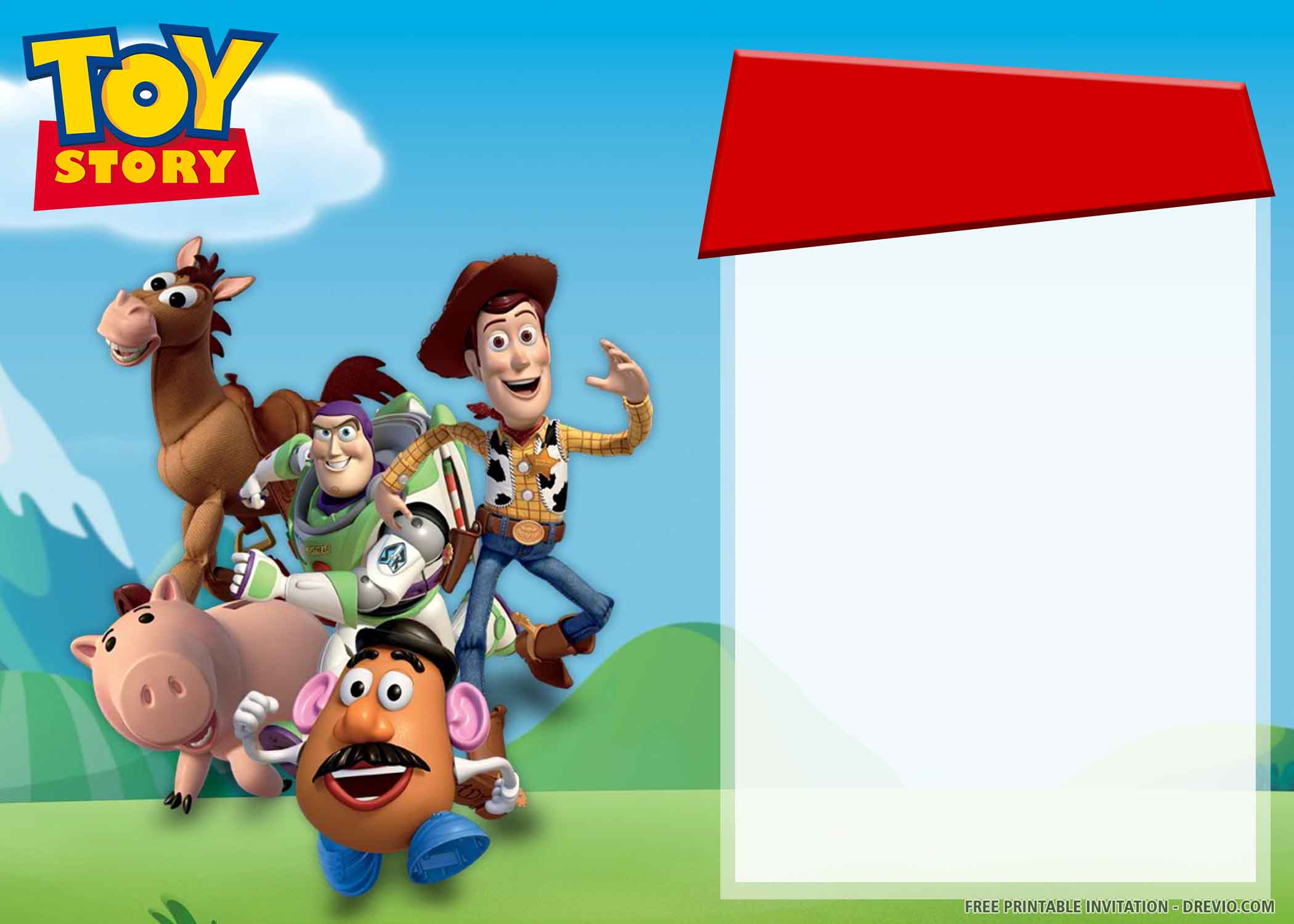 Free Printable Toy Story 3 Birthday Invitation