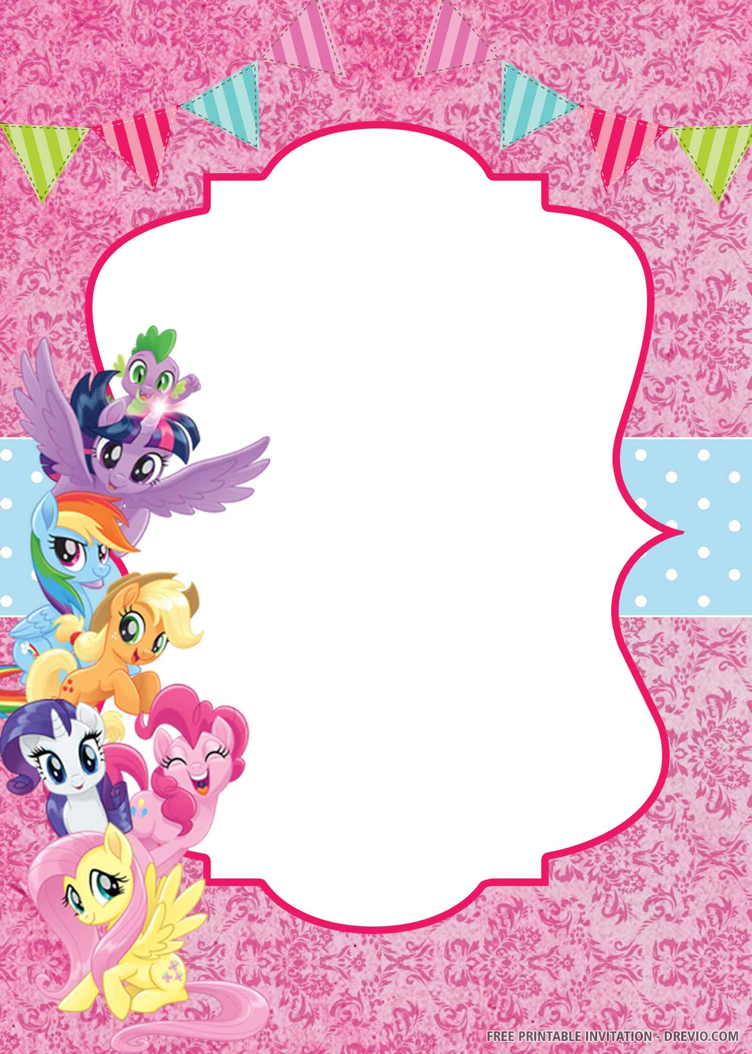 Free Printable My Little Pony Invitation Templates