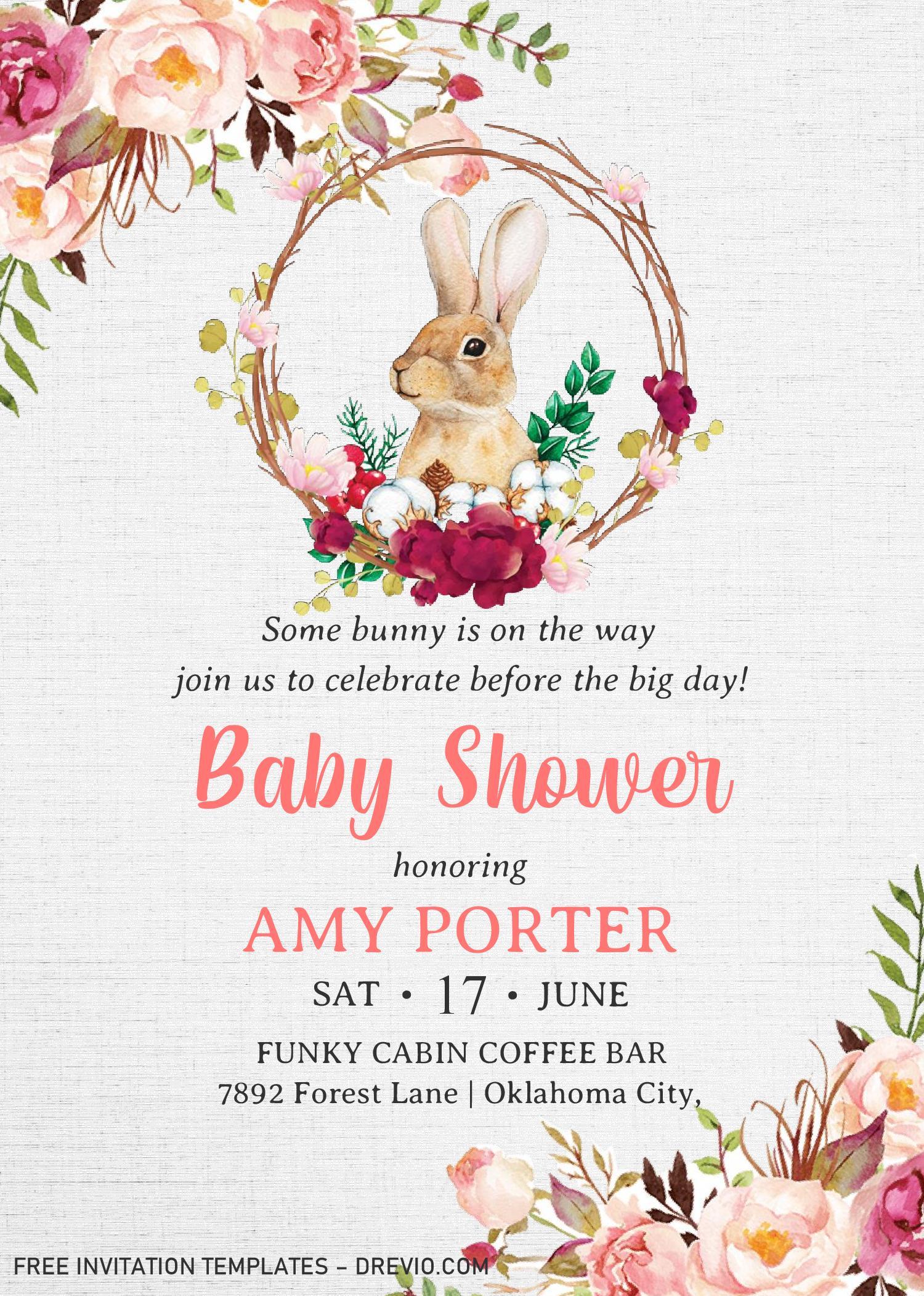 some bunny invitation templates