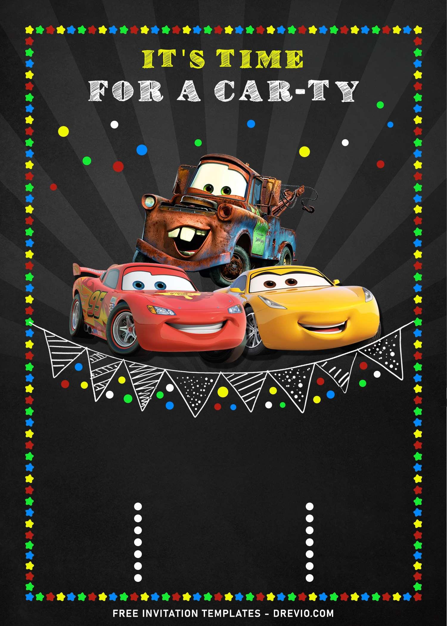 9 super cool disney cars chalkboard