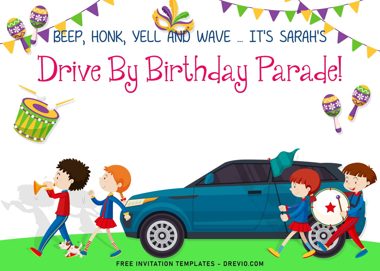 7 drive by birthday parade birthday