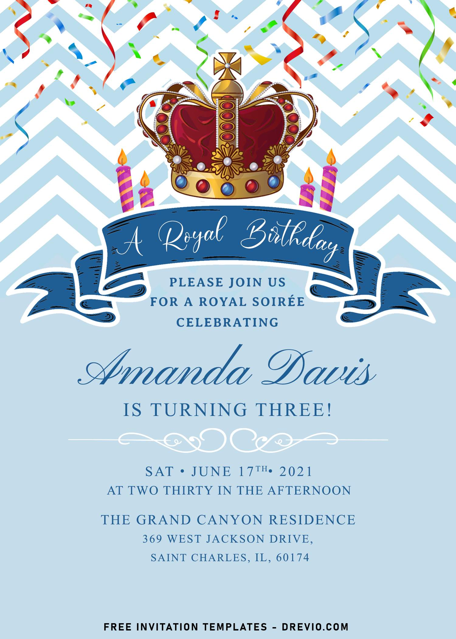 8 royal birthday invitation templates