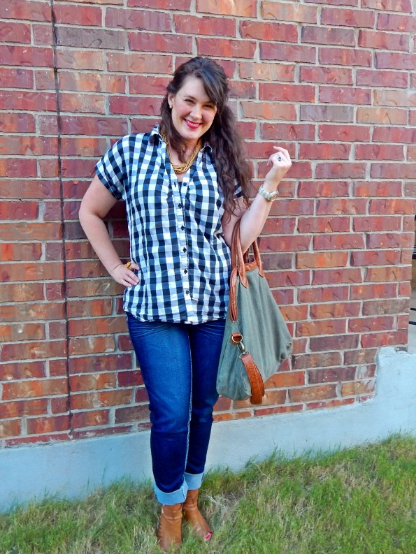 Gingham Blouse Untucked