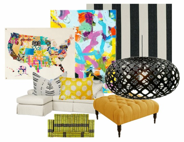 Colorful Graphic Living Room2
