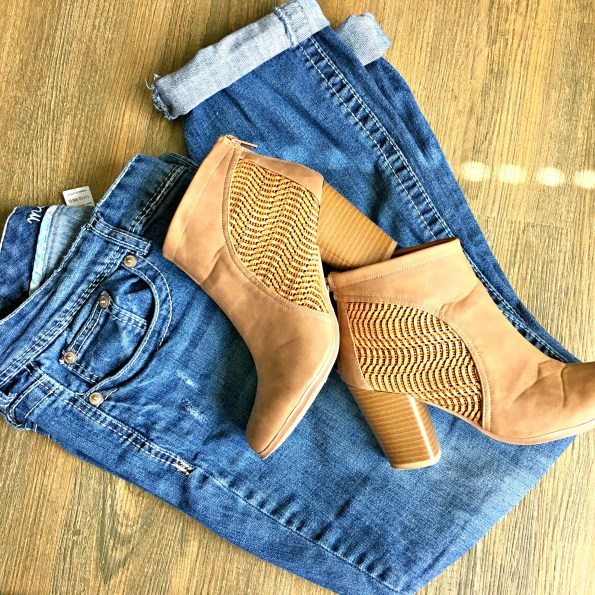 Maurices Denim with Qupid Ankle Boots