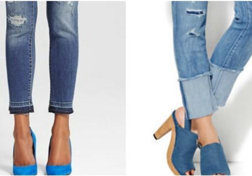 Raw Edge Distressed Jeans