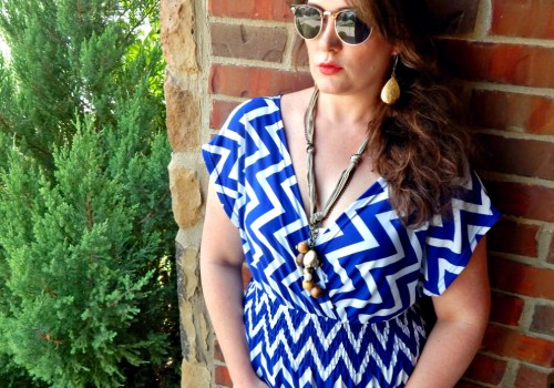 Smocked Maxi Dress in Greek Blue with H&M Sunglasses