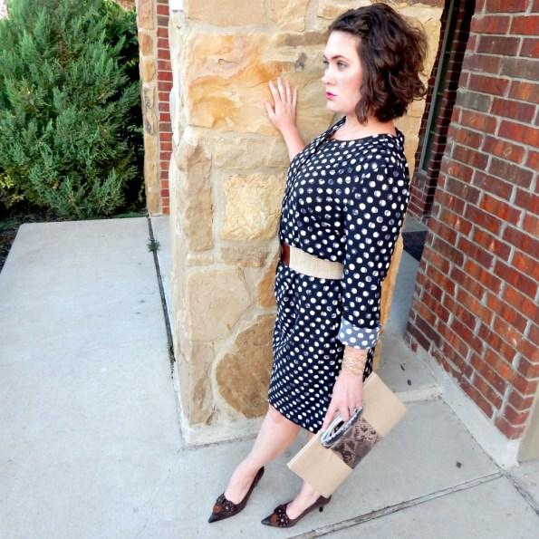 Target Black Dot Shirt Dress Isaac Mizrahi Flower Pumps