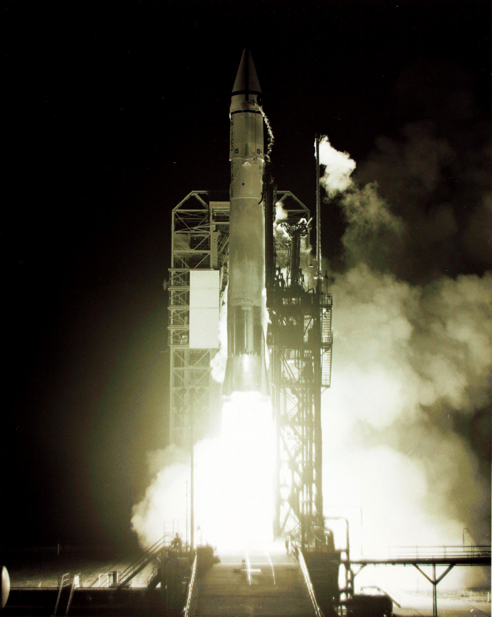Image result for surveyor 7 rocket lift off