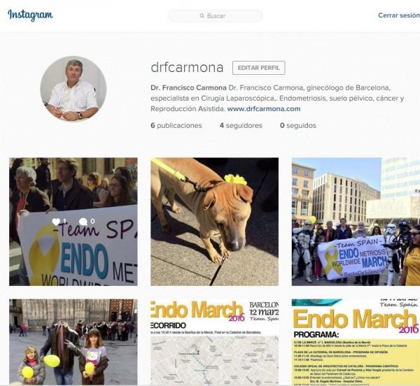 Cuenta del Dr. Francisco Carmona, ginecólogo de Barcelona en Instagram