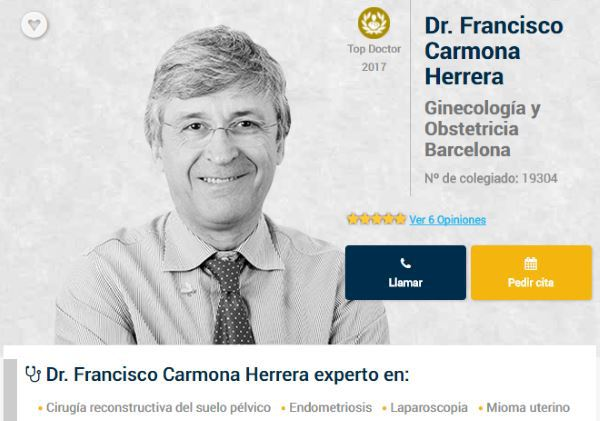 Top Doctors Awards 2017 para el Dr. Francisco Carmona